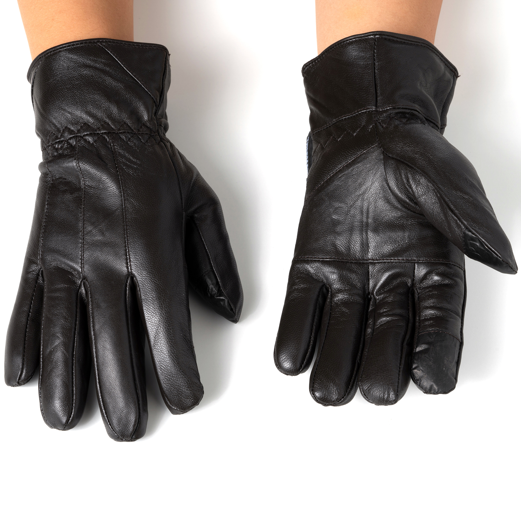 Alpine-Swiss-Mens-Touch-Screen-Gloves-Leather-Thermal-Lined-Phone-Texting-Gloves thumbnail 23