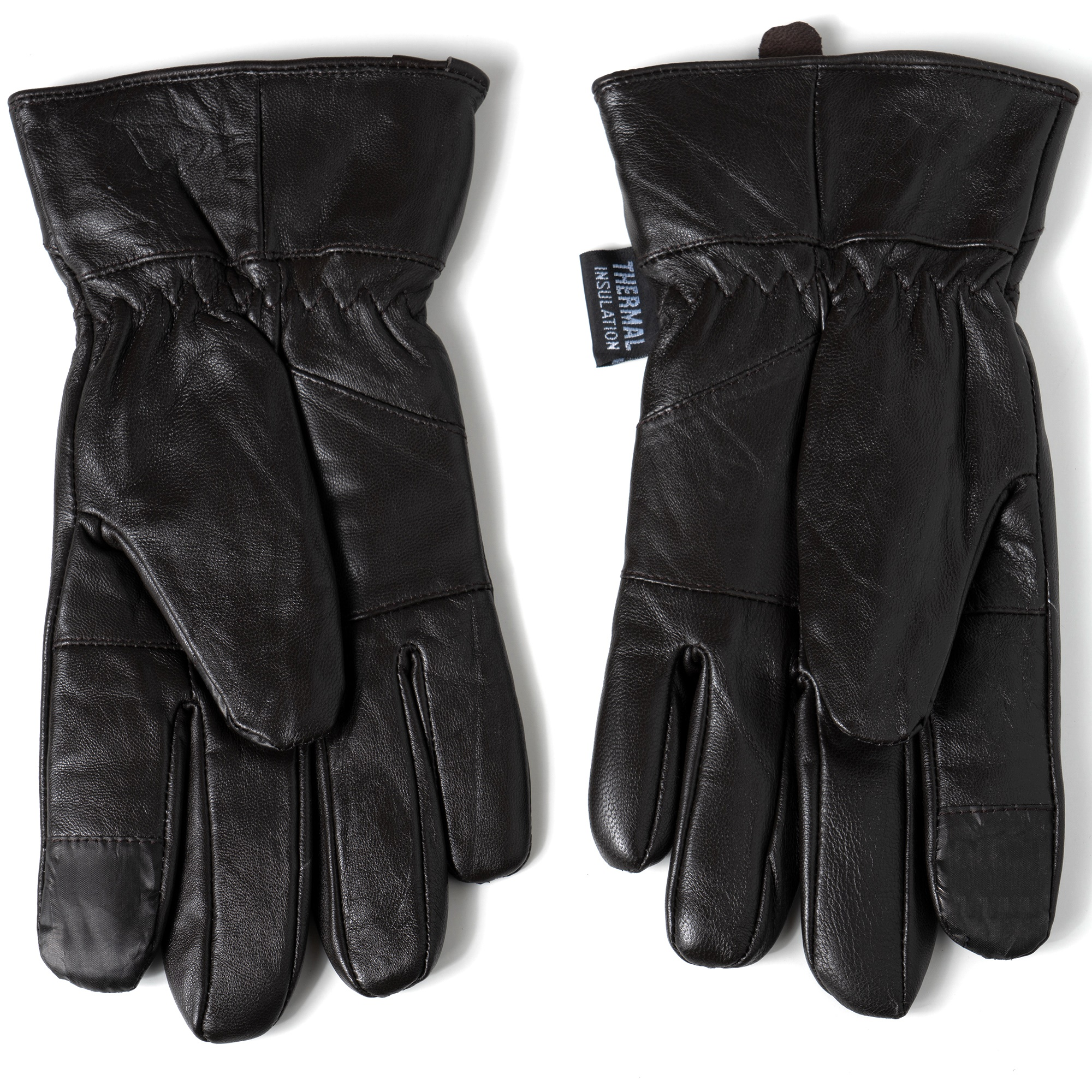 Alpine-Swiss-Mens-Touch-Screen-Gloves-Leather-Thermal-Lined-Phone-Texting-Gloves thumbnail 25