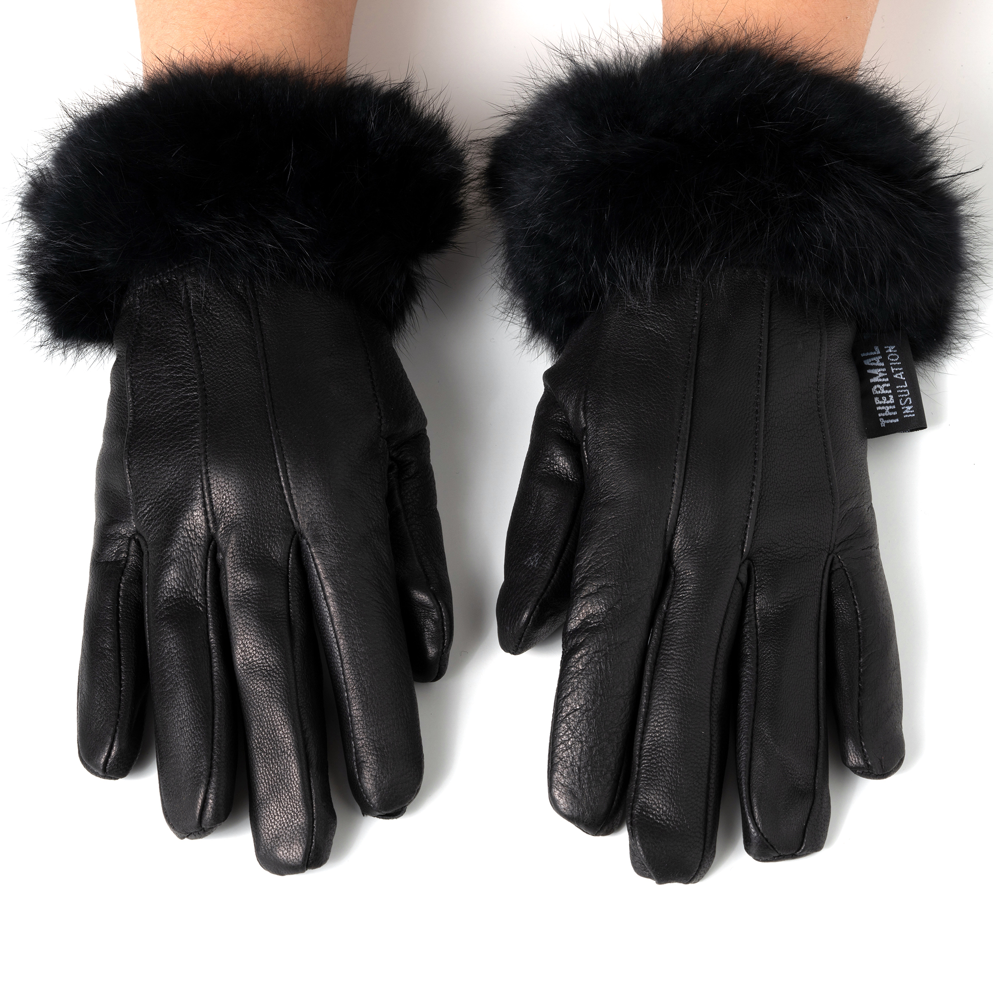 Alpine-Swiss-Womens-Dressy-Gloves-Genuine-Leather-Thermal-Lining-Fur-Trim-Cuff thumbnail 14
