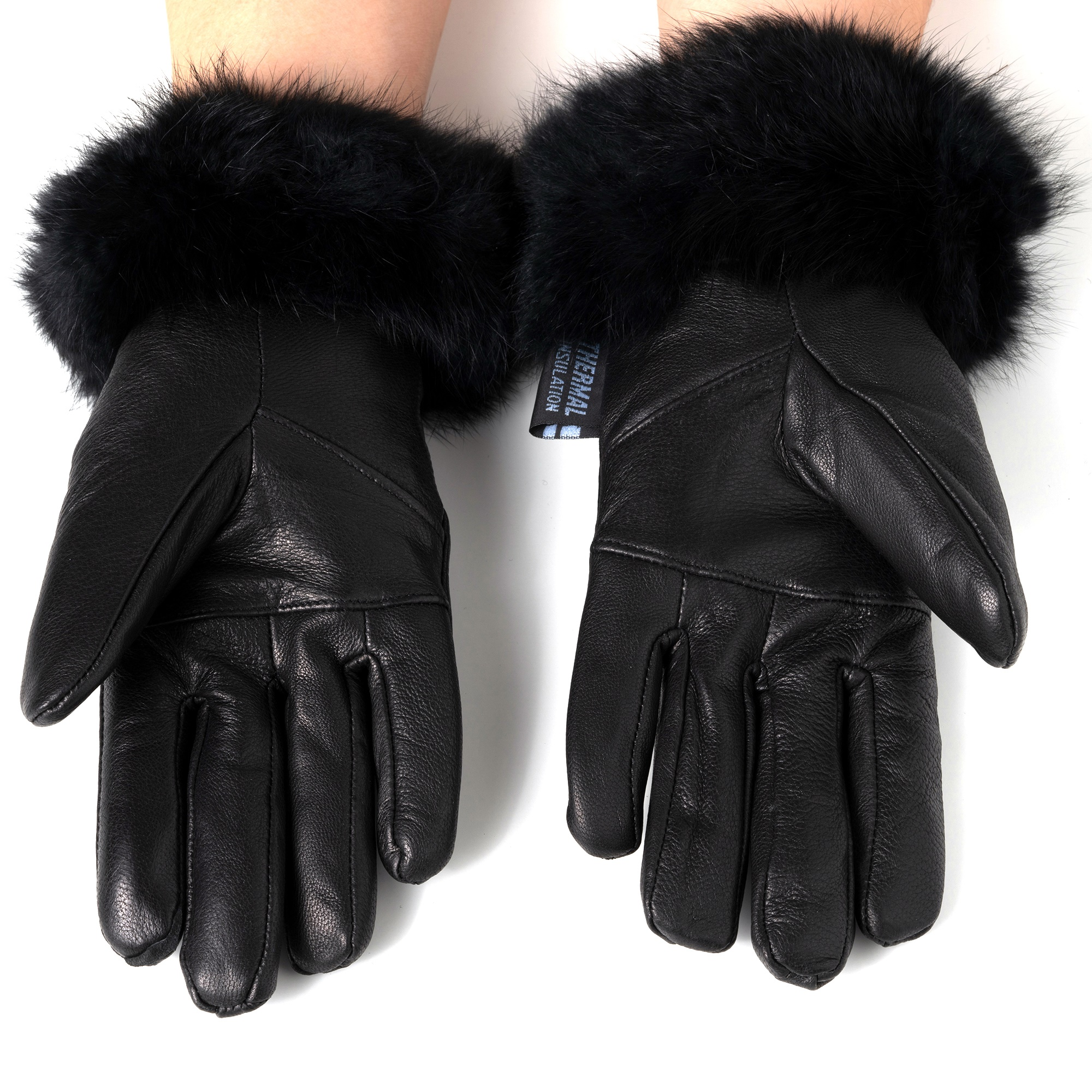 Alpine-Swiss-Womens-Dressy-Gloves-Genuine-Leather-Thermal-Lining-Fur-Trim-Cuff thumbnail 15