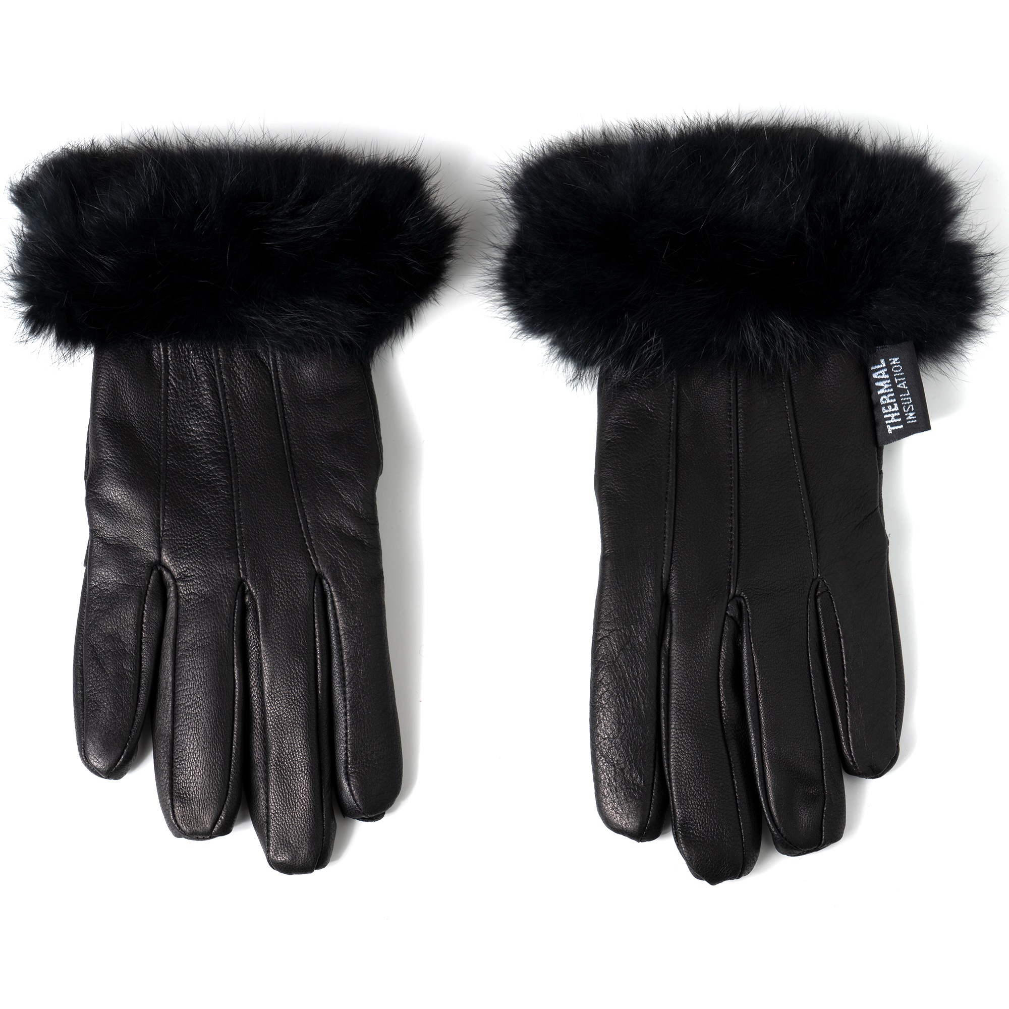 Alpine-Swiss-Womens-Dressy-Gloves-Genuine-Leather-Thermal-Lining-Fur-Trim-Cuff thumbnail 17
