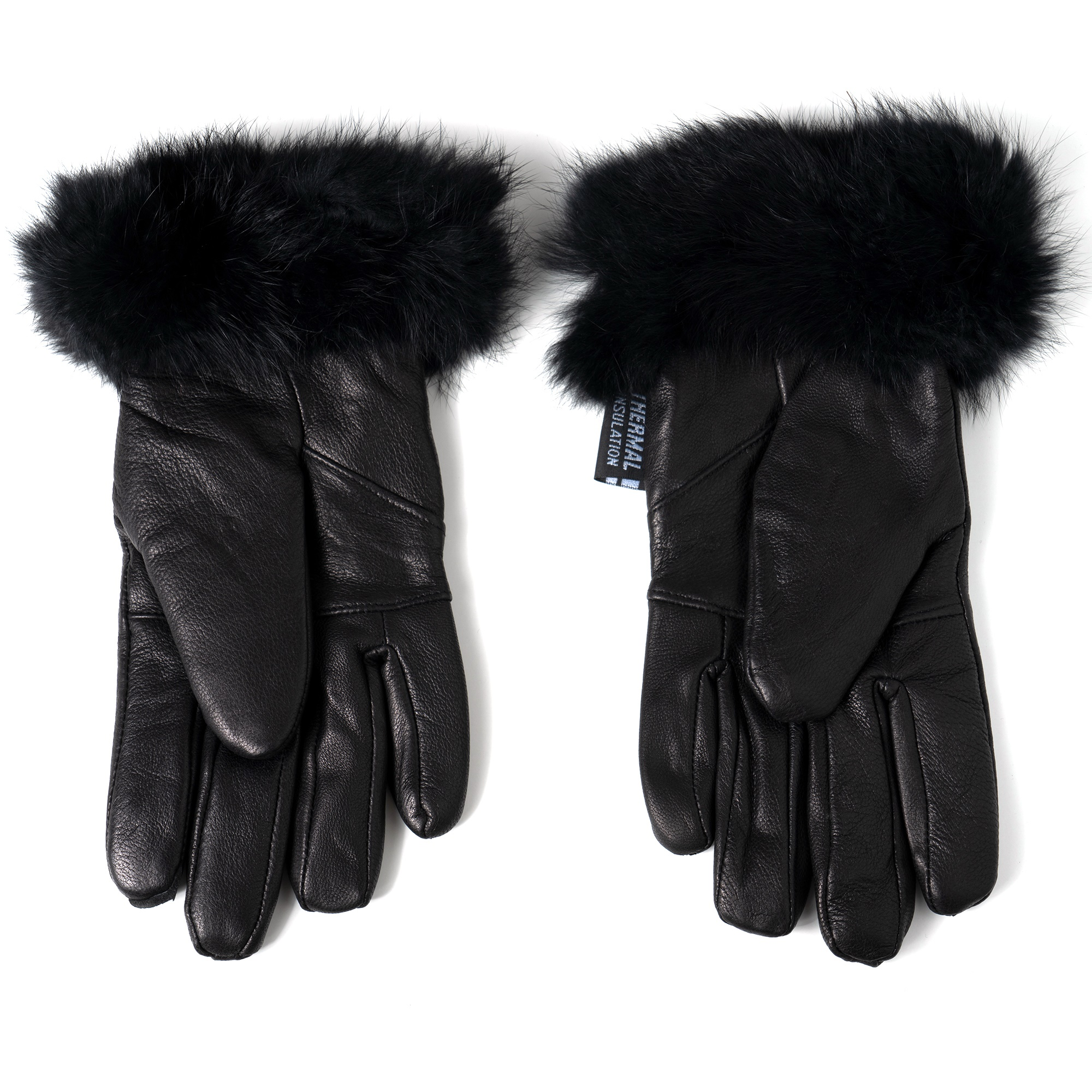 Alpine-Swiss-Womens-Dressy-Gloves-Genuine-Leather-Thermal-Lining-Fur-Trim-Cuff thumbnail 18