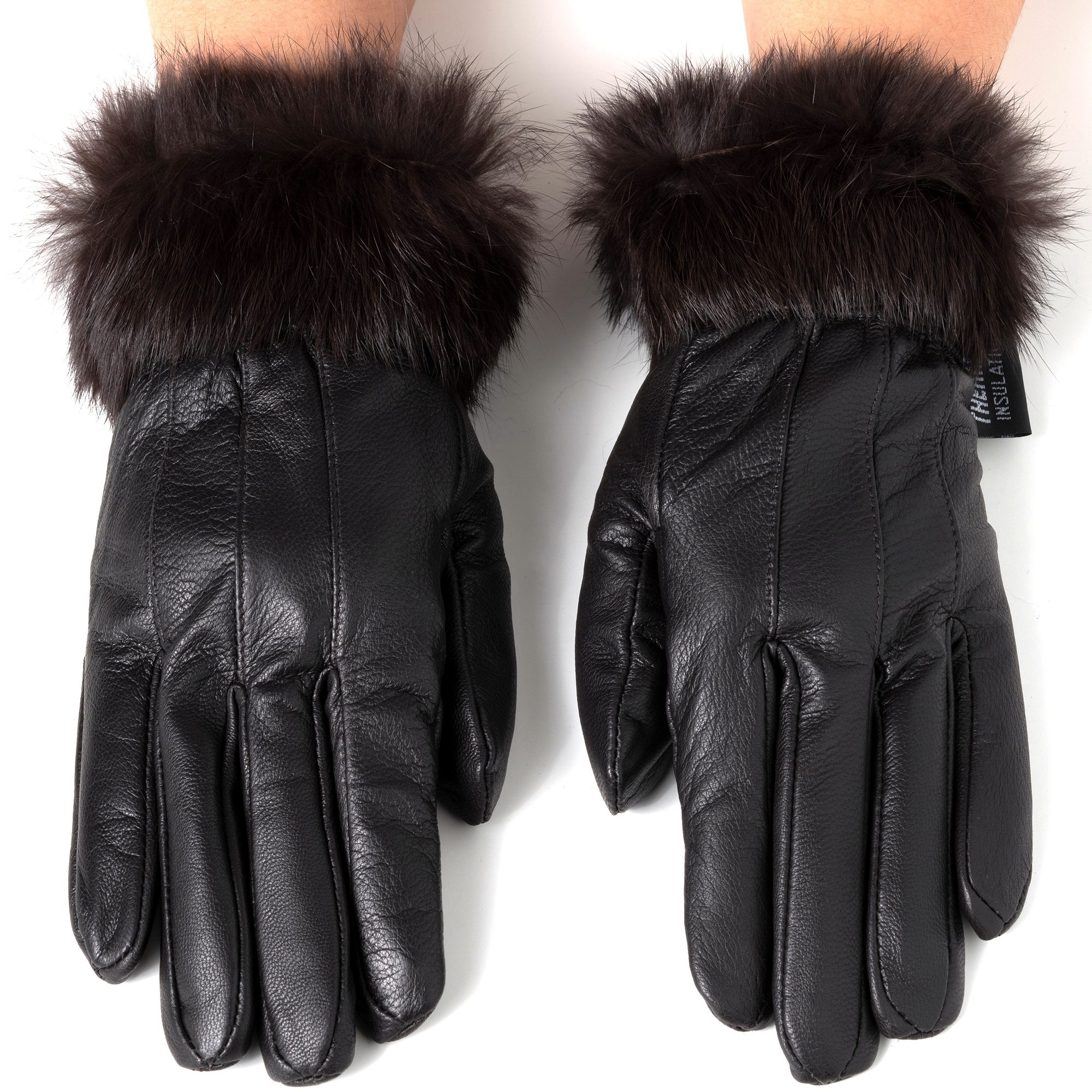Alpine-Swiss-Womens-Dressy-Gloves-Genuine-Leather-Thermal-Lining-Fur-Trim-Cuff thumbnail 22
