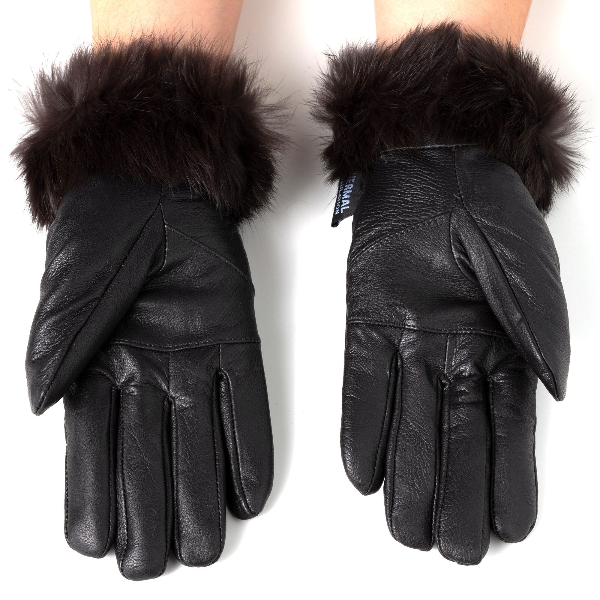 Alpine-Swiss-Womens-Dressy-Gloves-Genuine-Leather-Thermal-Lining-Fur-Trim-Cuff thumbnail 23