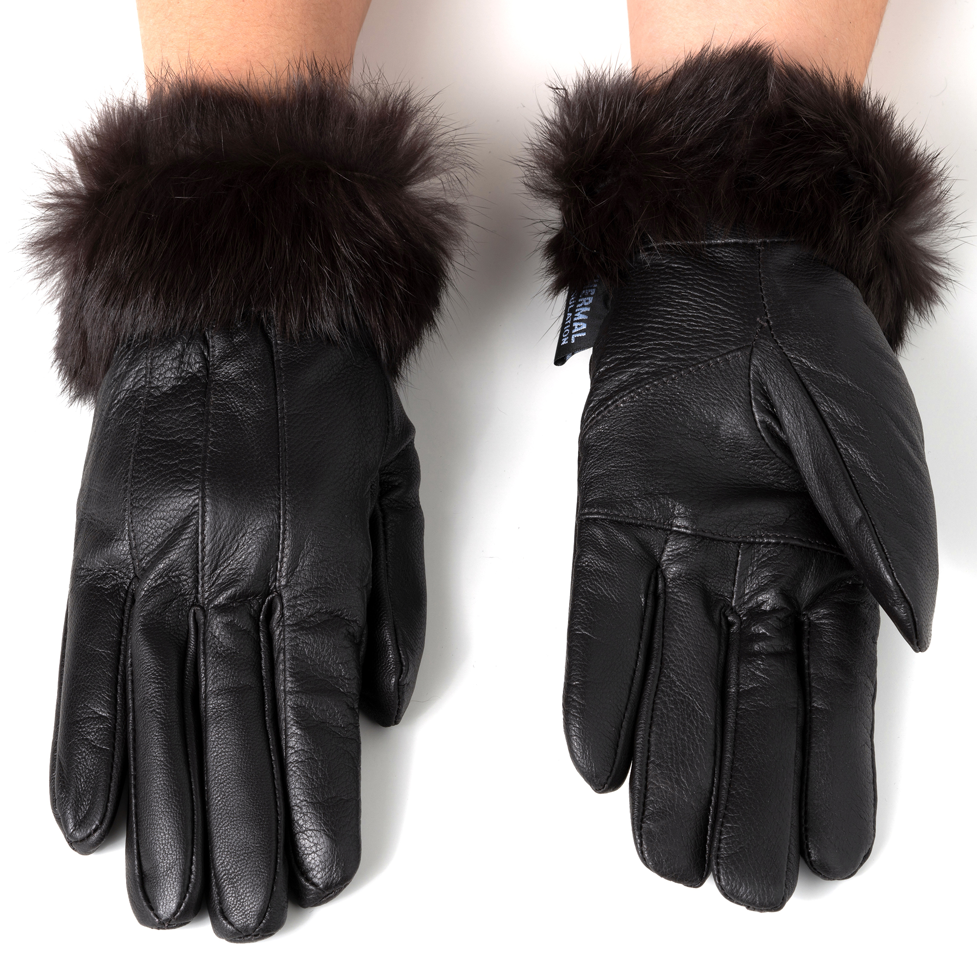 Alpine-Swiss-Womens-Dressy-Gloves-Genuine-Leather-Thermal-Lining-Fur-Trim-Cuff thumbnail 24
