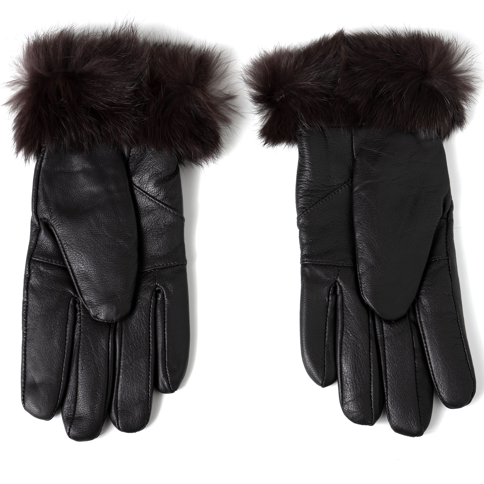 Alpine-Swiss-Womens-Dressy-Gloves-Genuine-Leather-Thermal-Lining-Fur-Trim-Cuff thumbnail 25