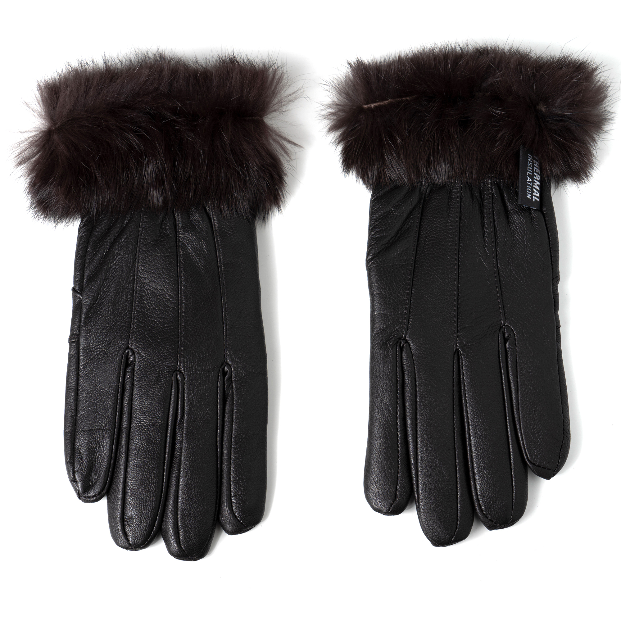 Alpine-Swiss-Womens-Dressy-Gloves-Genuine-Leather-Thermal-Lining-Fur-Trim-Cuff thumbnail 26