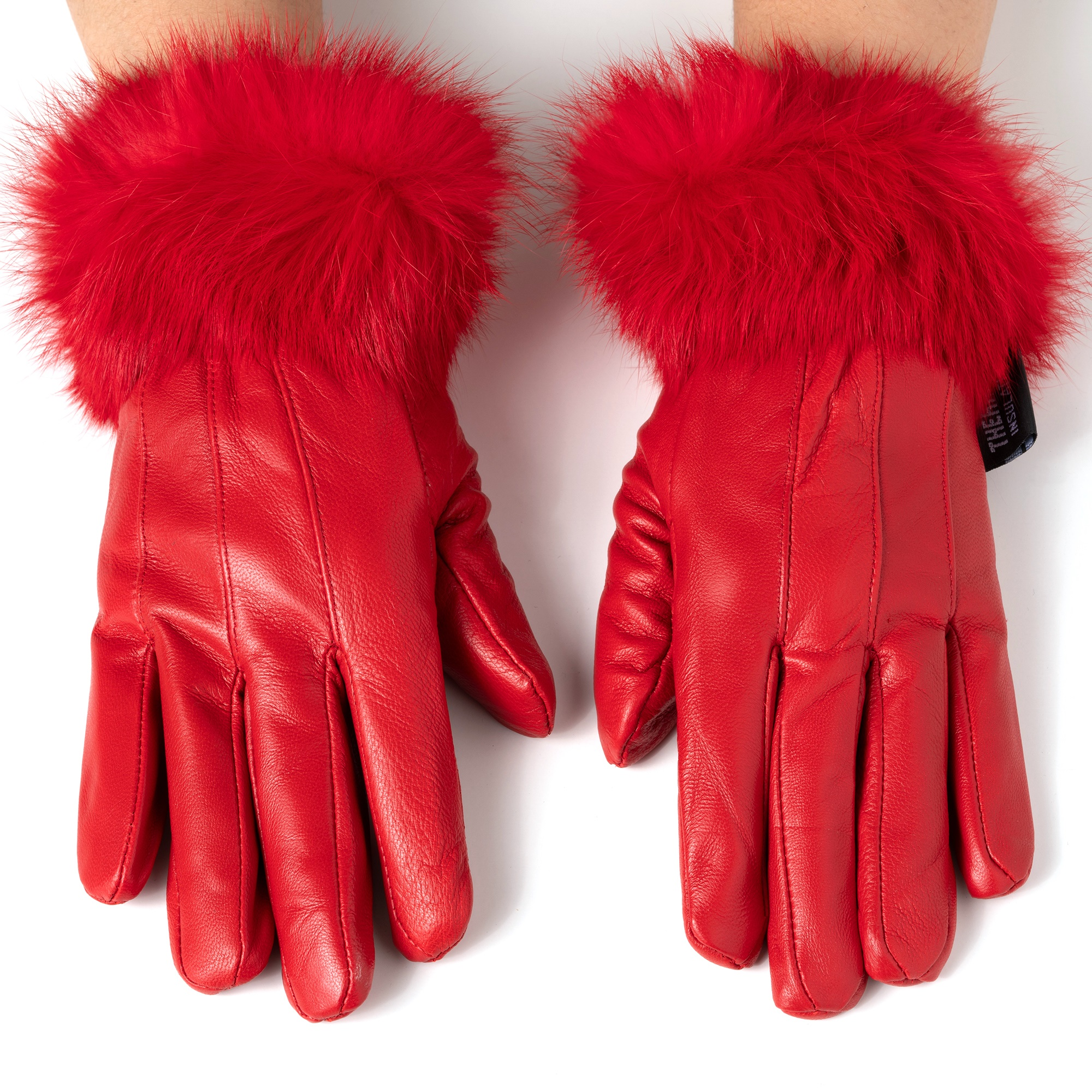 Alpine-Swiss-Womens-Dressy-Gloves-Genuine-Leather-Thermal-Lining-Fur-Trim-Cuff thumbnail 30