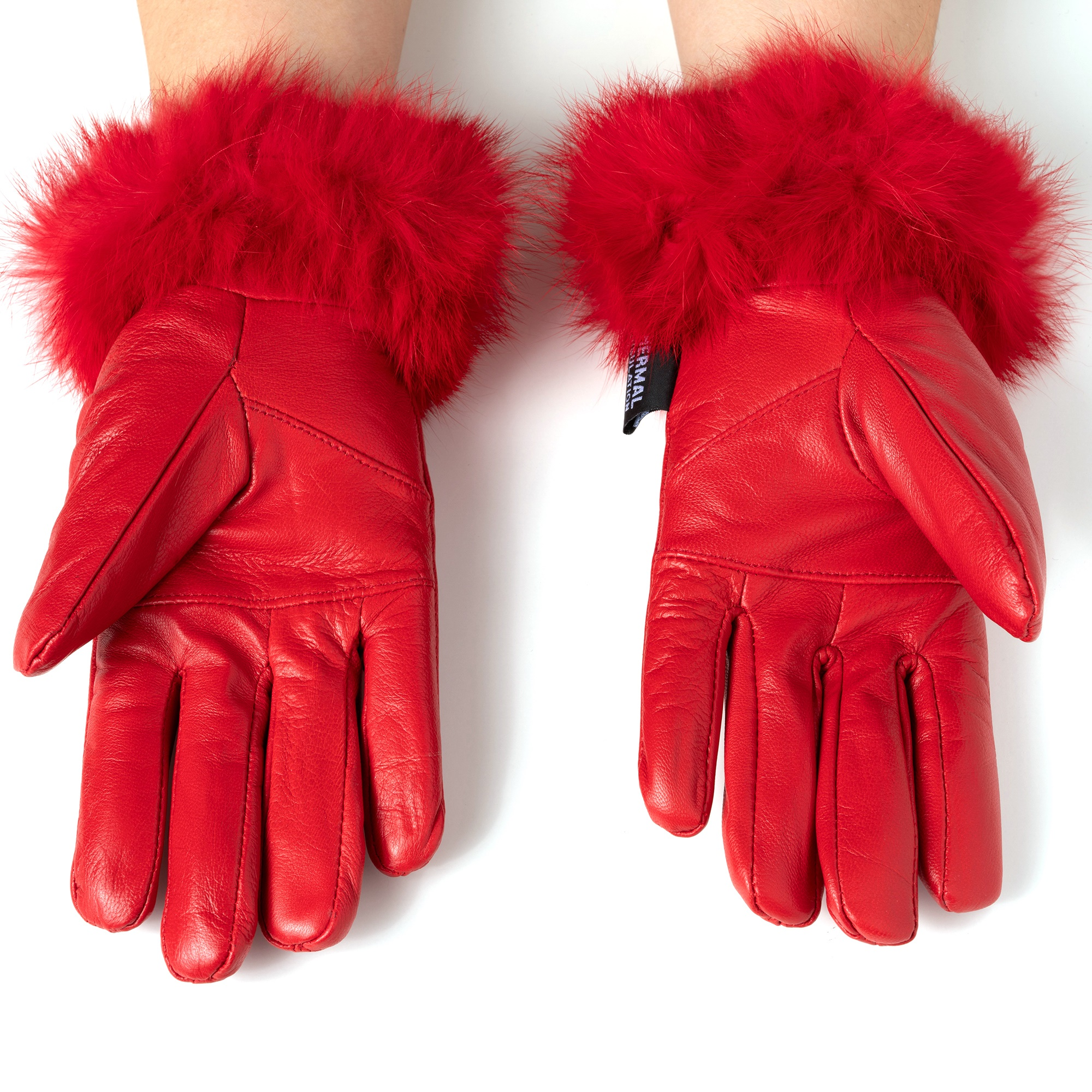 Alpine-Swiss-Womens-Dressy-Gloves-Genuine-Leather-Thermal-Lining-Fur-Trim-Cuff thumbnail 31