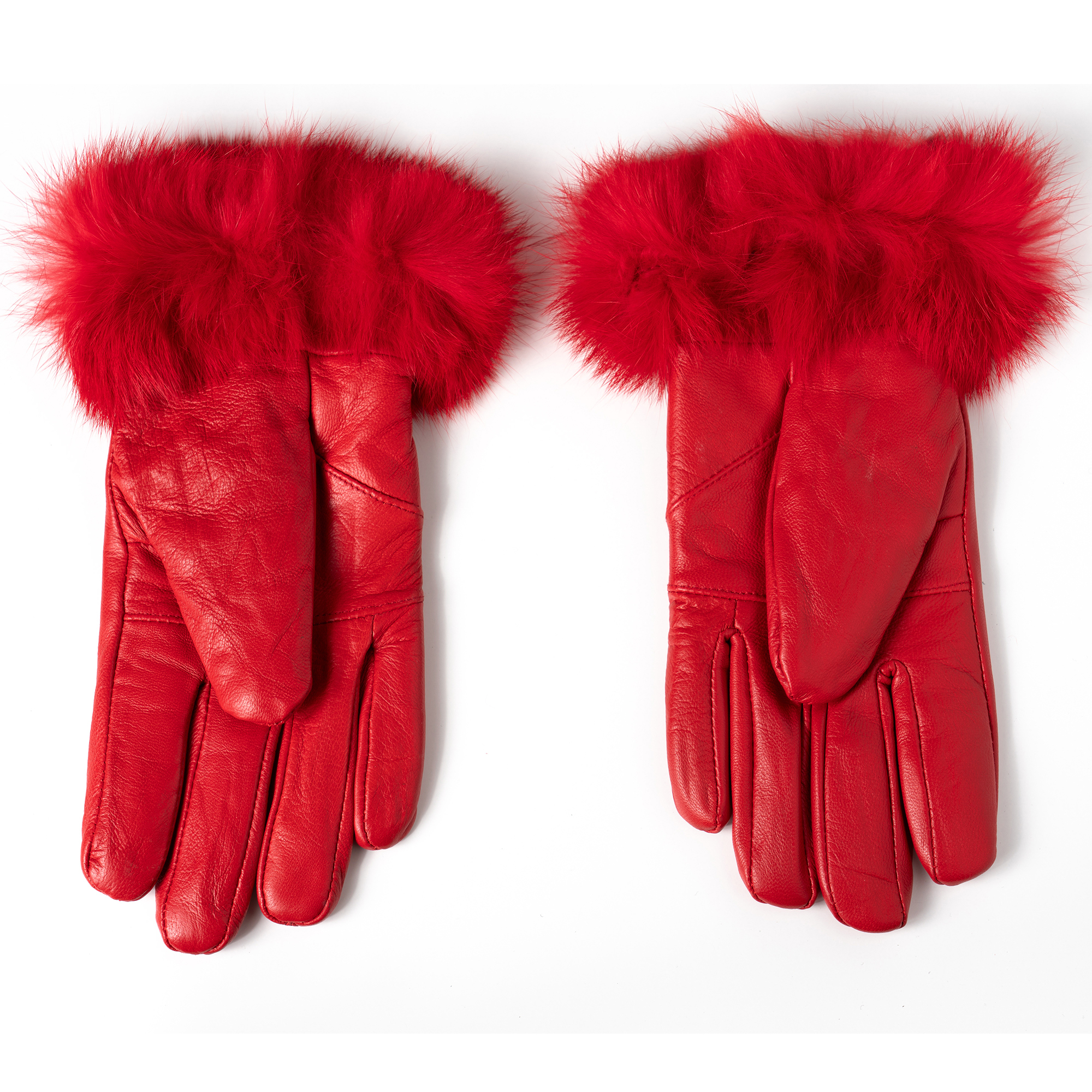 Alpine-Swiss-Womens-Dressy-Gloves-Genuine-Leather-Thermal-Lining-Fur-Trim-Cuff thumbnail 34