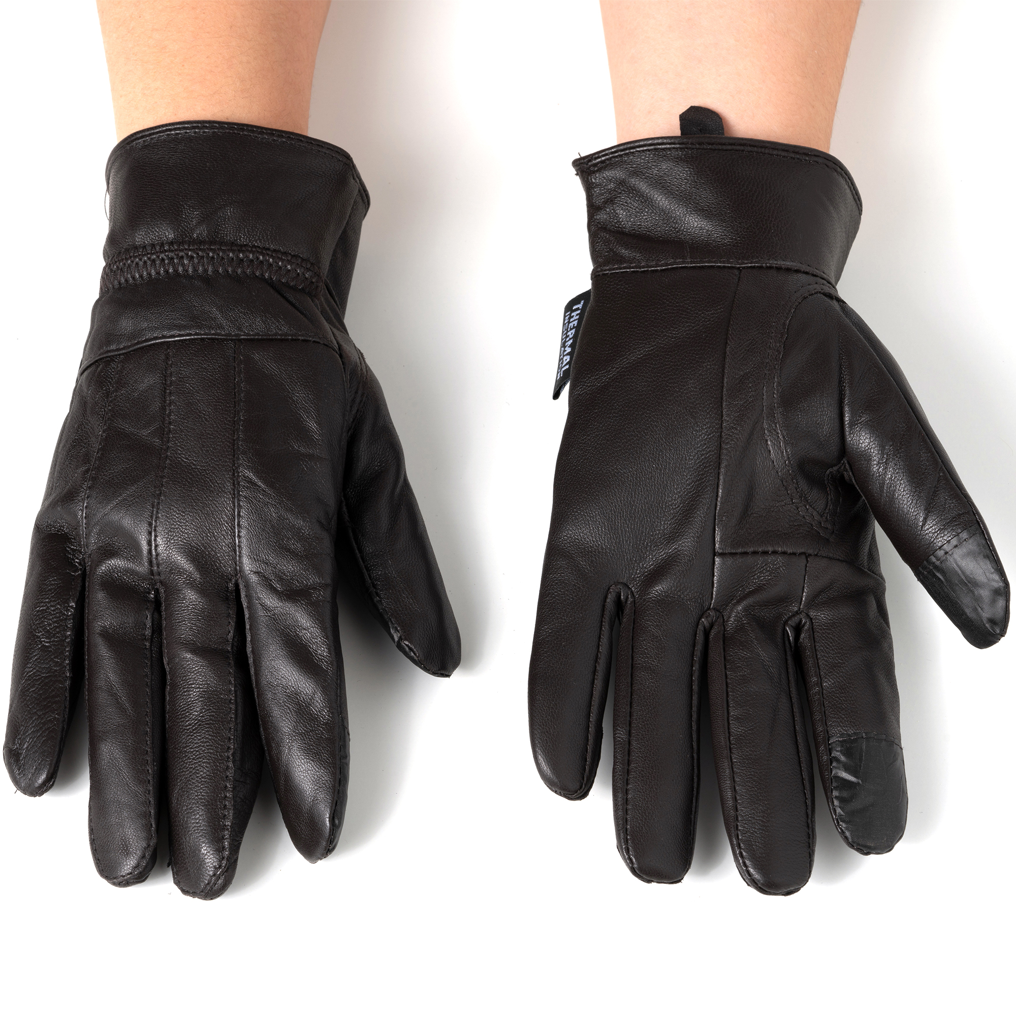 Alpine-Swiss-Womens-Touch-Screen-Gloves-Leather-Phone-Texting-Glove-Thermal-Warm thumbnail 24