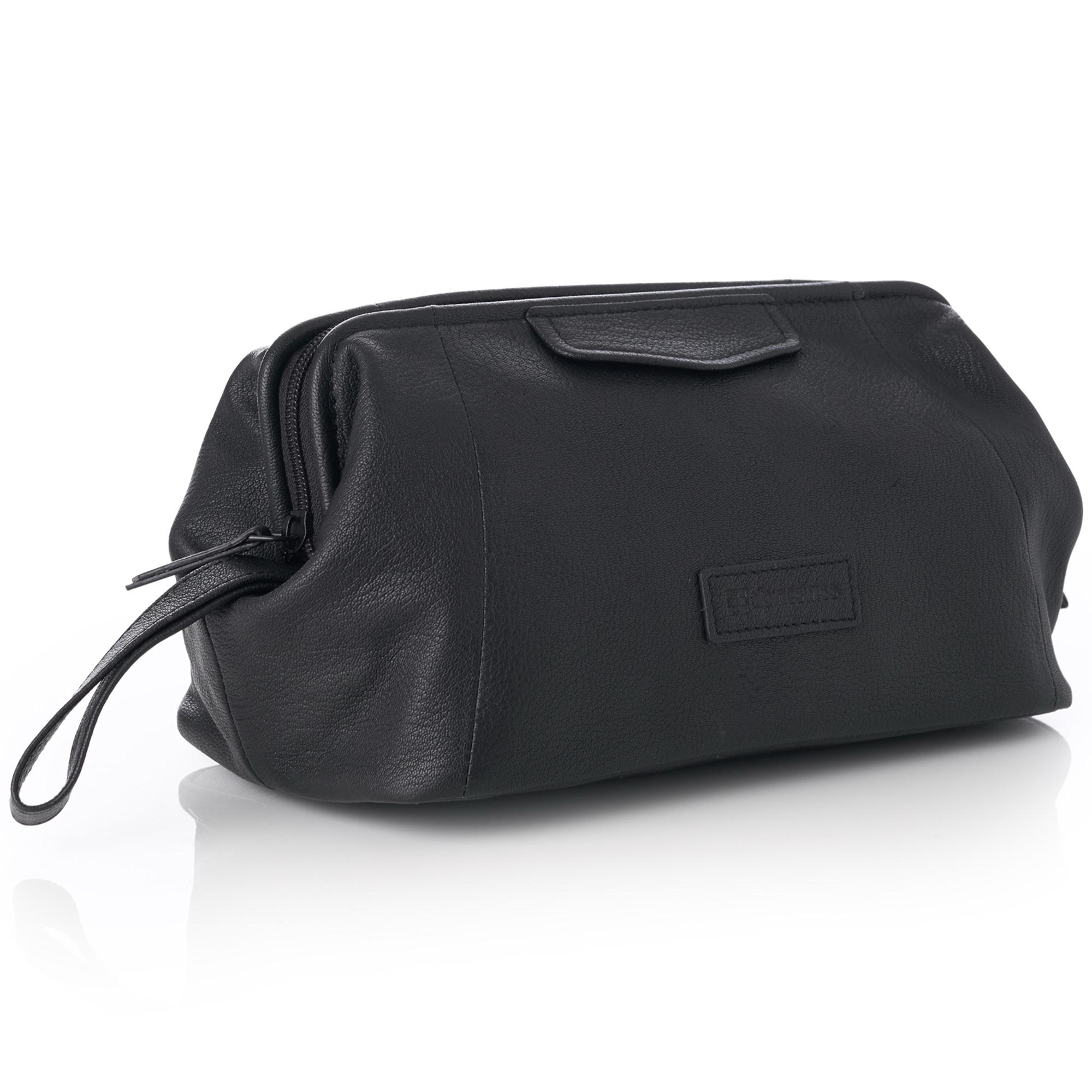 1e2f859b072a Alpine Swiss Lauter Toiletry Bag Genuine Leather Shaving Kit Dop Kit Travel  Case