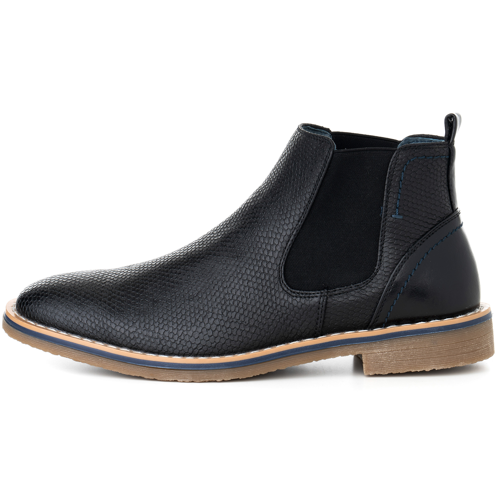 Alpine-Swiss-Mens-Nash-Chelsea-Boots-Snakeskin-Ankle-Boot-Genuine-Leather-Lined miniature 12