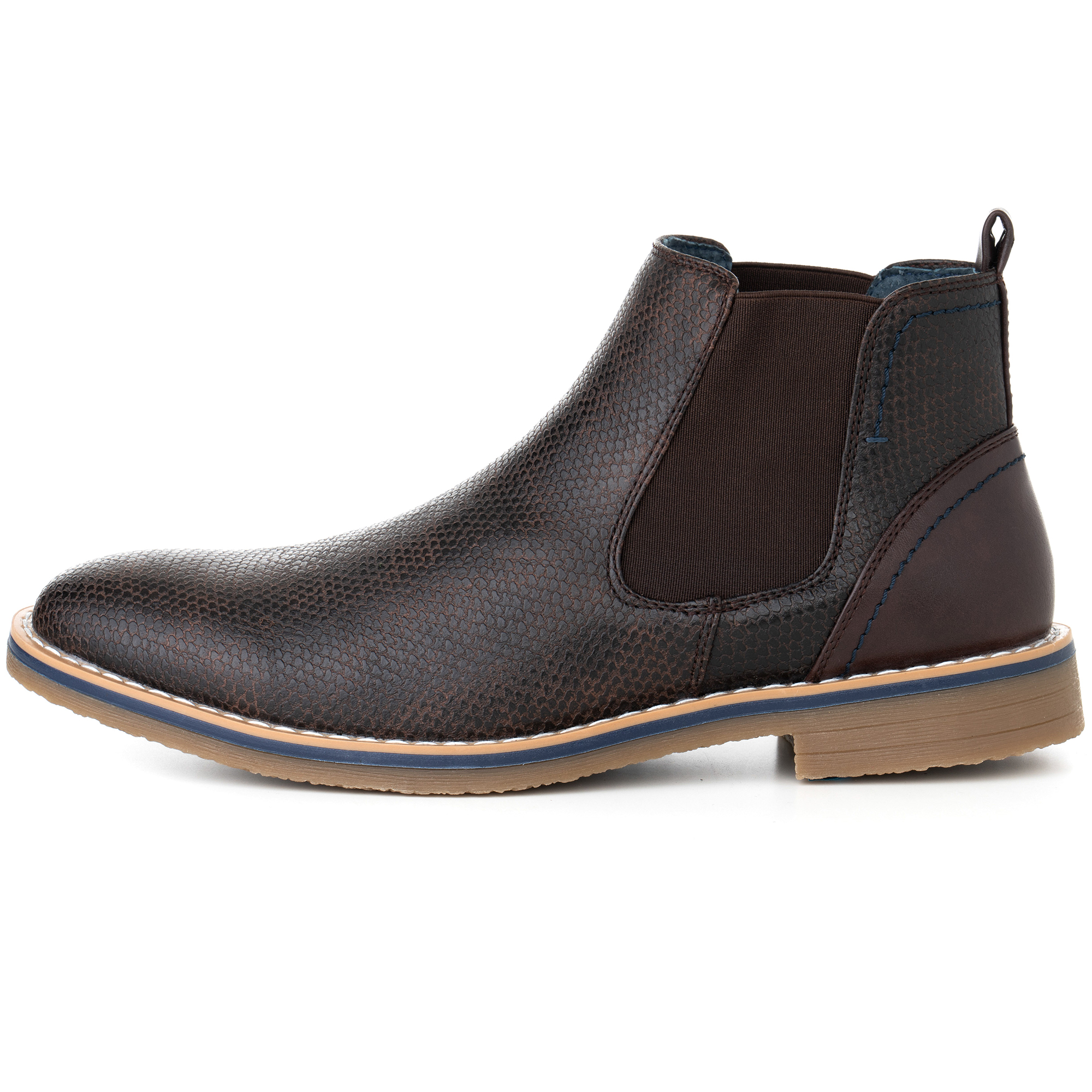 Alpine-Swiss-Mens-Nash-Chelsea-Boots-Snakeskin-Ankle-Boot-Genuine-Leather-Lined miniature 19