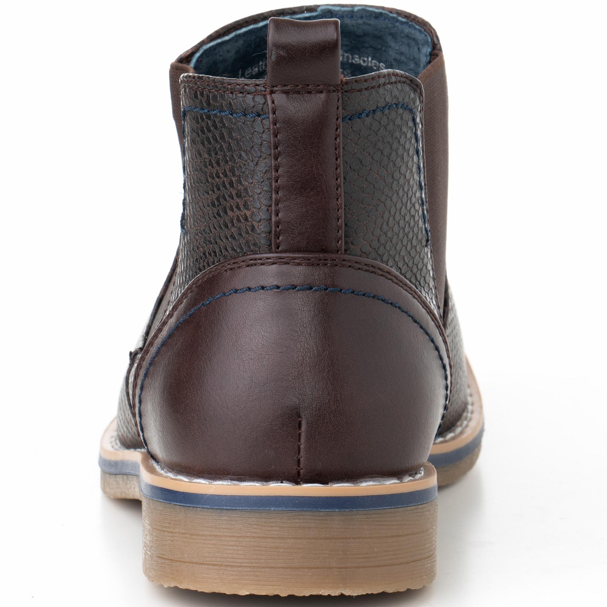 Alpine-Swiss-Mens-Nash-Chelsea-Boots-Snakeskin-Ankle-Boot-Genuine-Leather-Lined miniature 22
