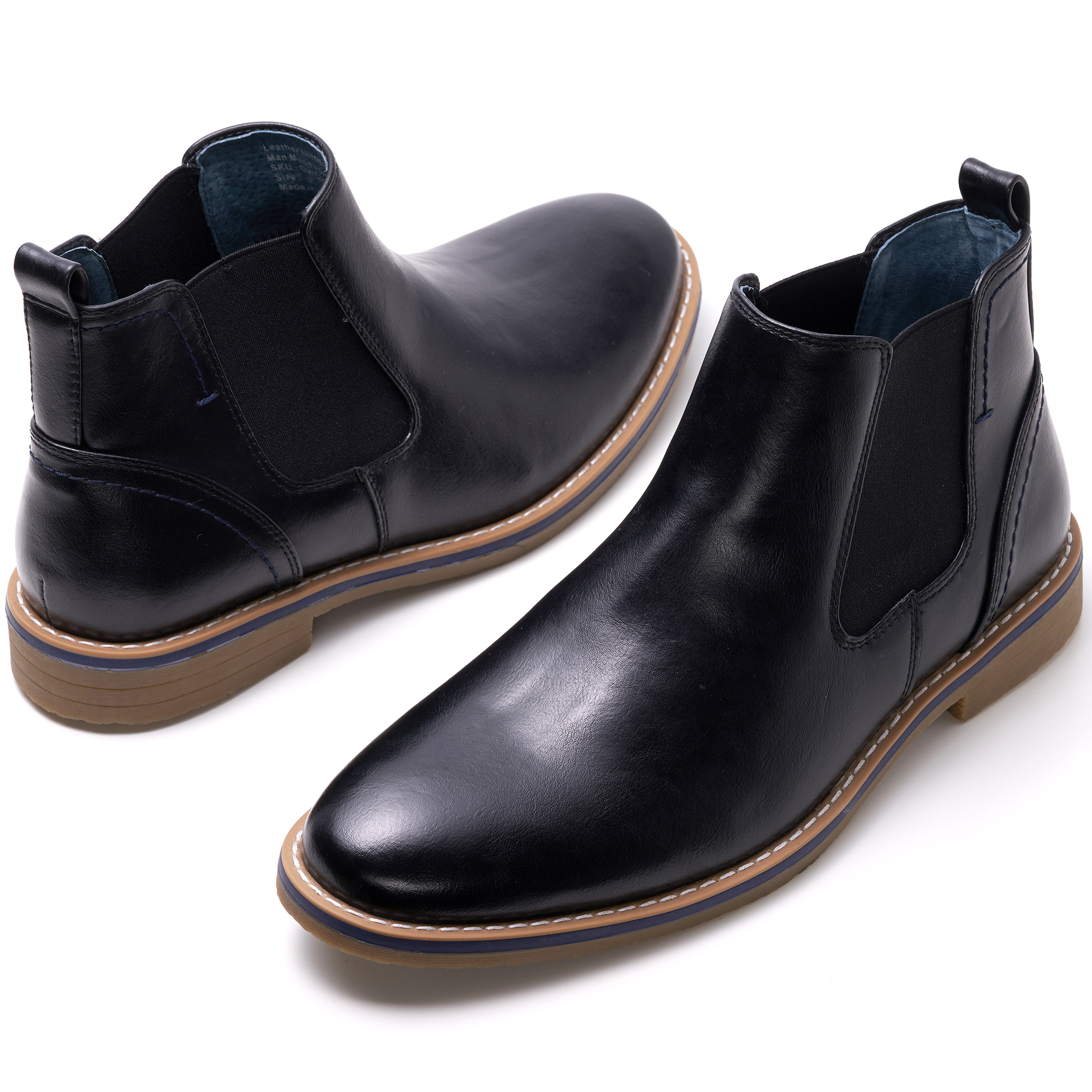 Alpine-Swiss-Mens-Owen-Chelsea-Boots-Pull-Up-Ankle-Boot-Genuine-Leather-Lined miniature 14