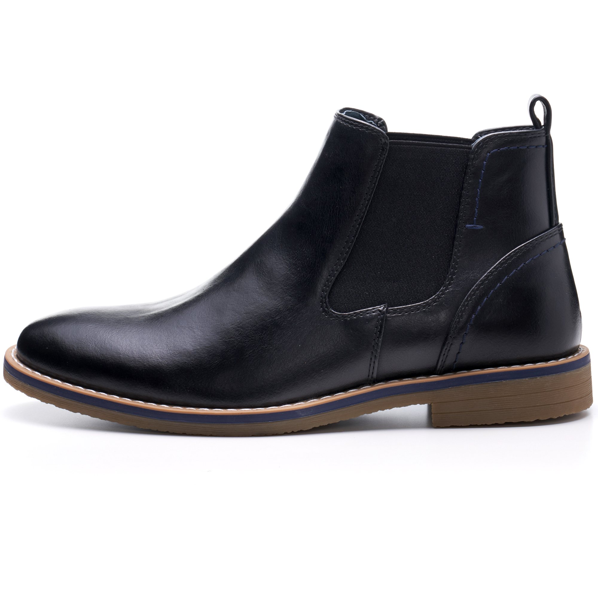 Alpine-Swiss-Mens-Owen-Chelsea-Boots-Pull-Up-Ankle-Boot-Genuine-Leather-Lined miniature 12