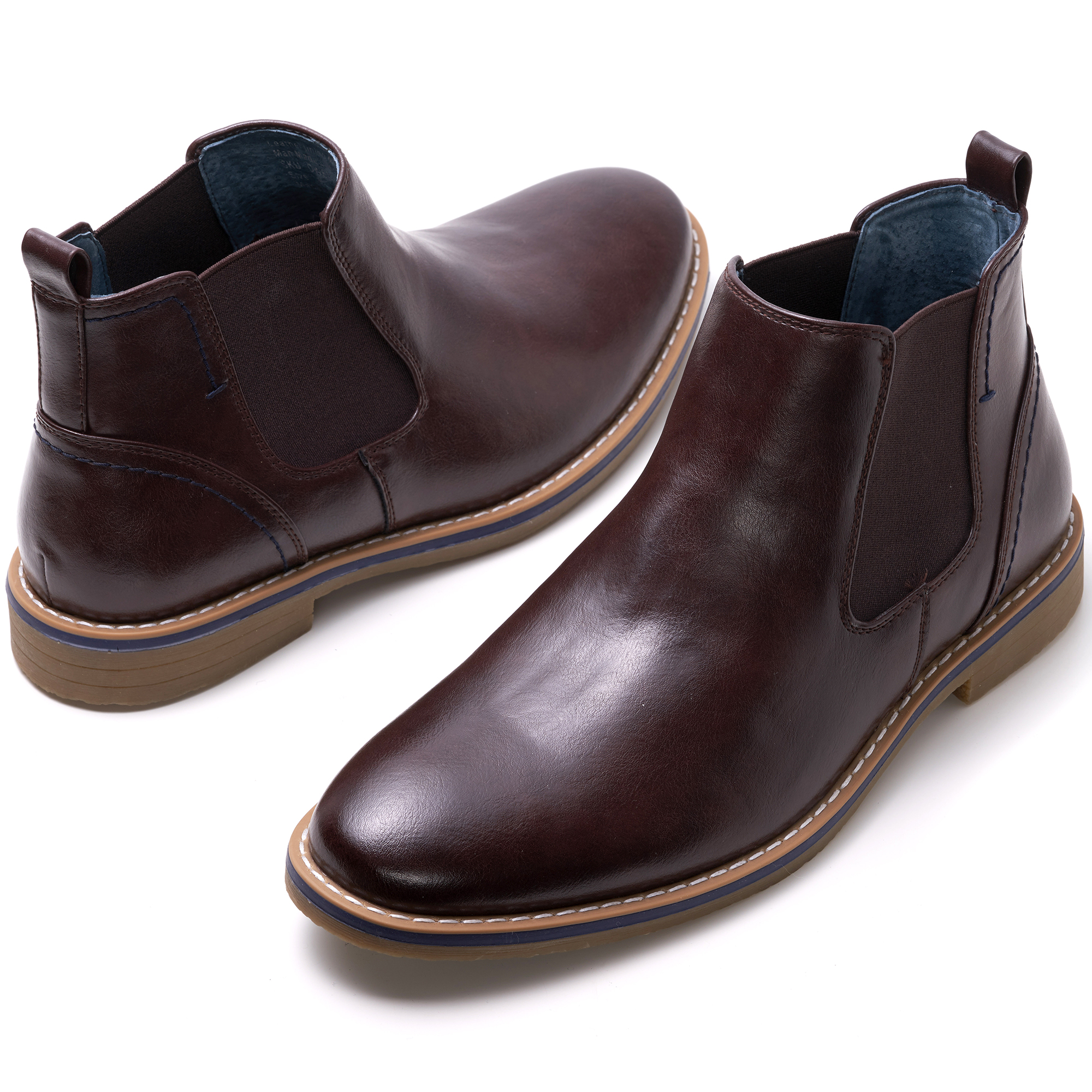 Alpine-Swiss-Mens-Owen-Chelsea-Boots-Pull-Up-Ankle-Boot-Genuine-Leather-Lined miniature 20