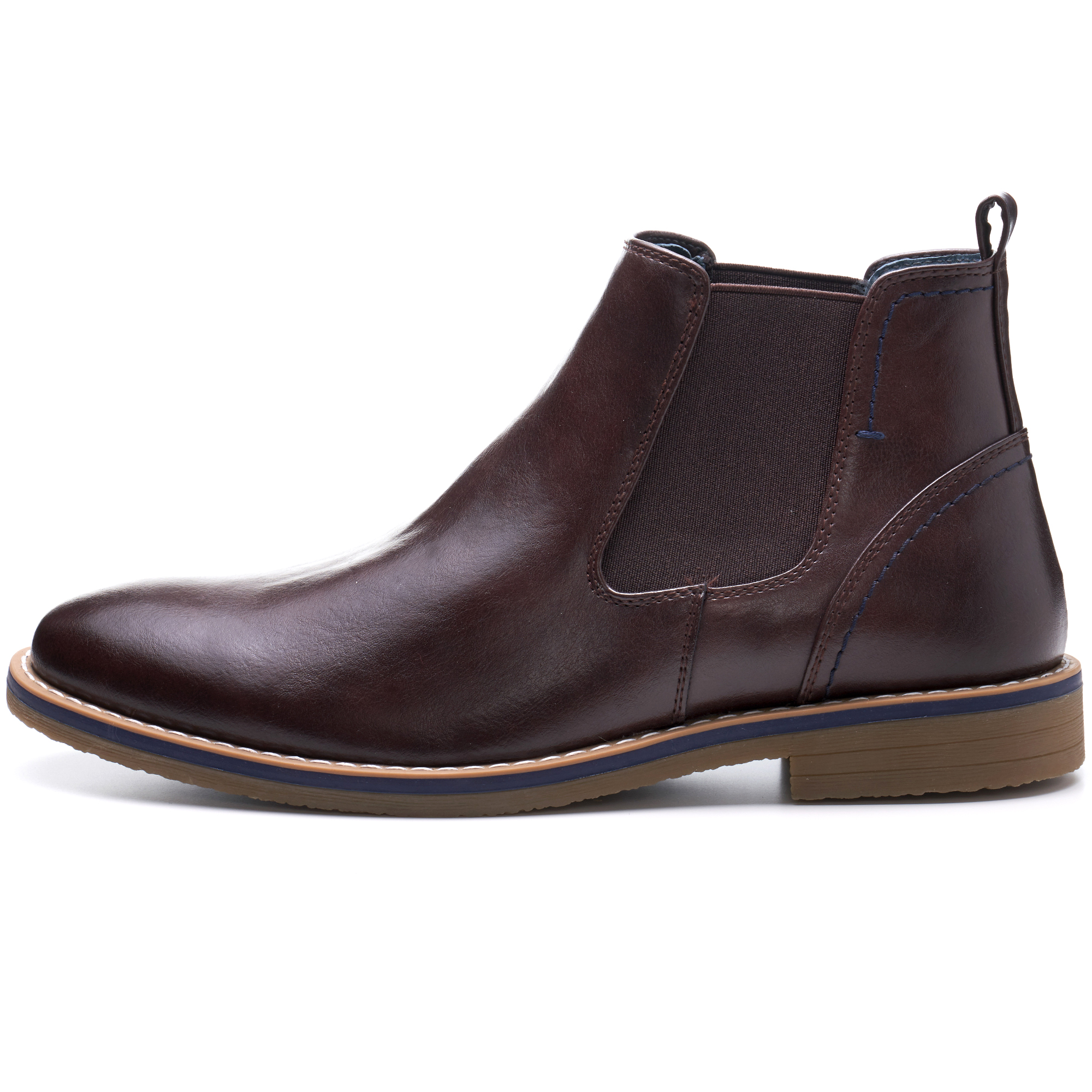 Alpine-Swiss-Mens-Owen-Chelsea-Boots-Pull-Up-Ankle-Boot-Genuine-Leather-Lined miniature 18