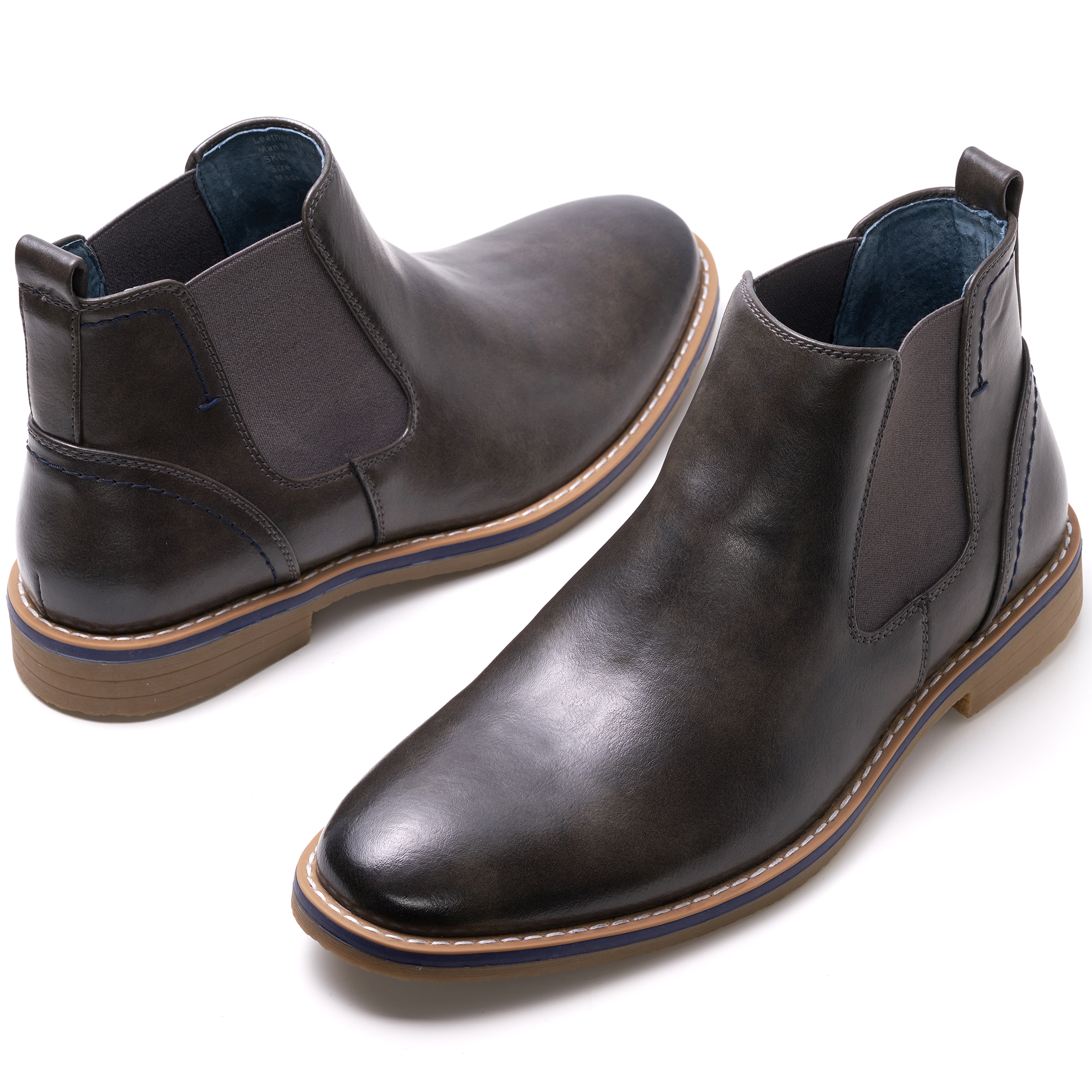 Alpine-Swiss-Mens-Owen-Chelsea-Boots-Pull-Up-Ankle-Boot-Genuine-Leather-Lined miniature 26
