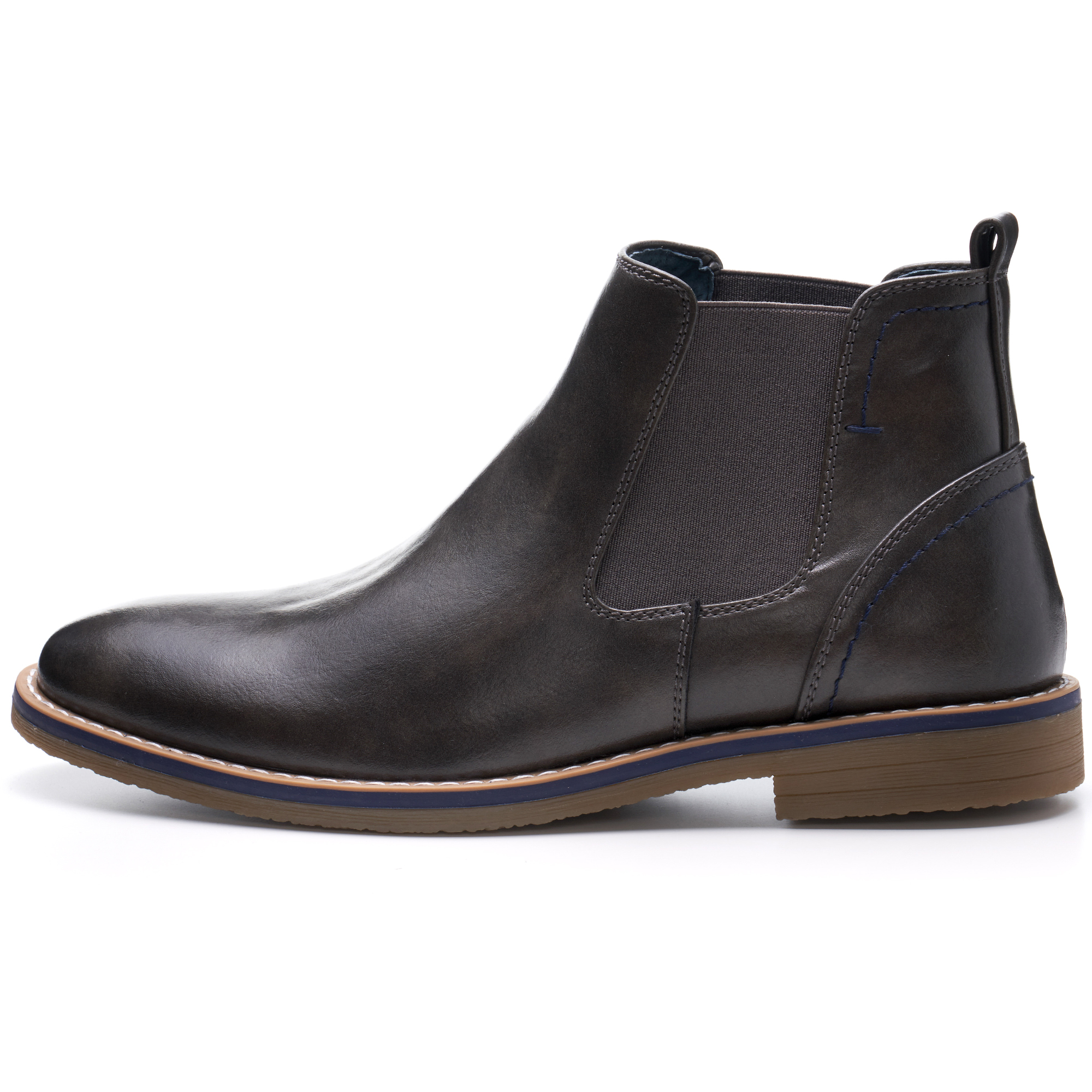 Alpine-Swiss-Mens-Owen-Chelsea-Boots-Pull-Up-Ankle-Boot-Genuine-Leather-Lined miniature 24