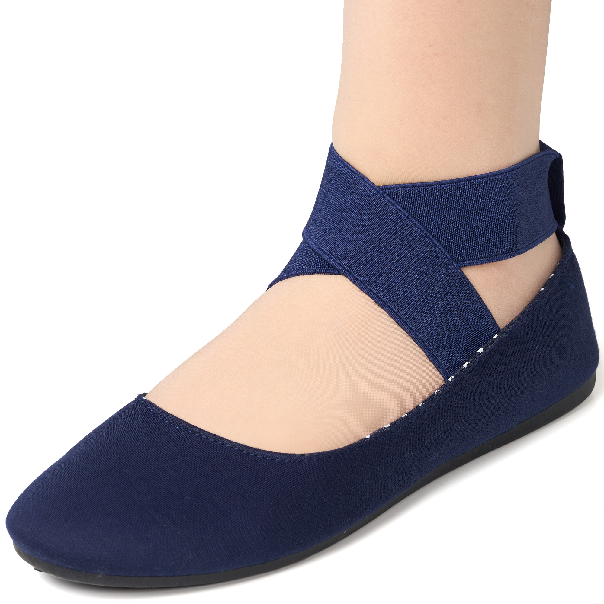 Alpine-Swiss-Peony-Womens-Ballet-Flats-Elastic-Ankle-Strap-Shoes-Slip-On-Loafers thumbnail 43