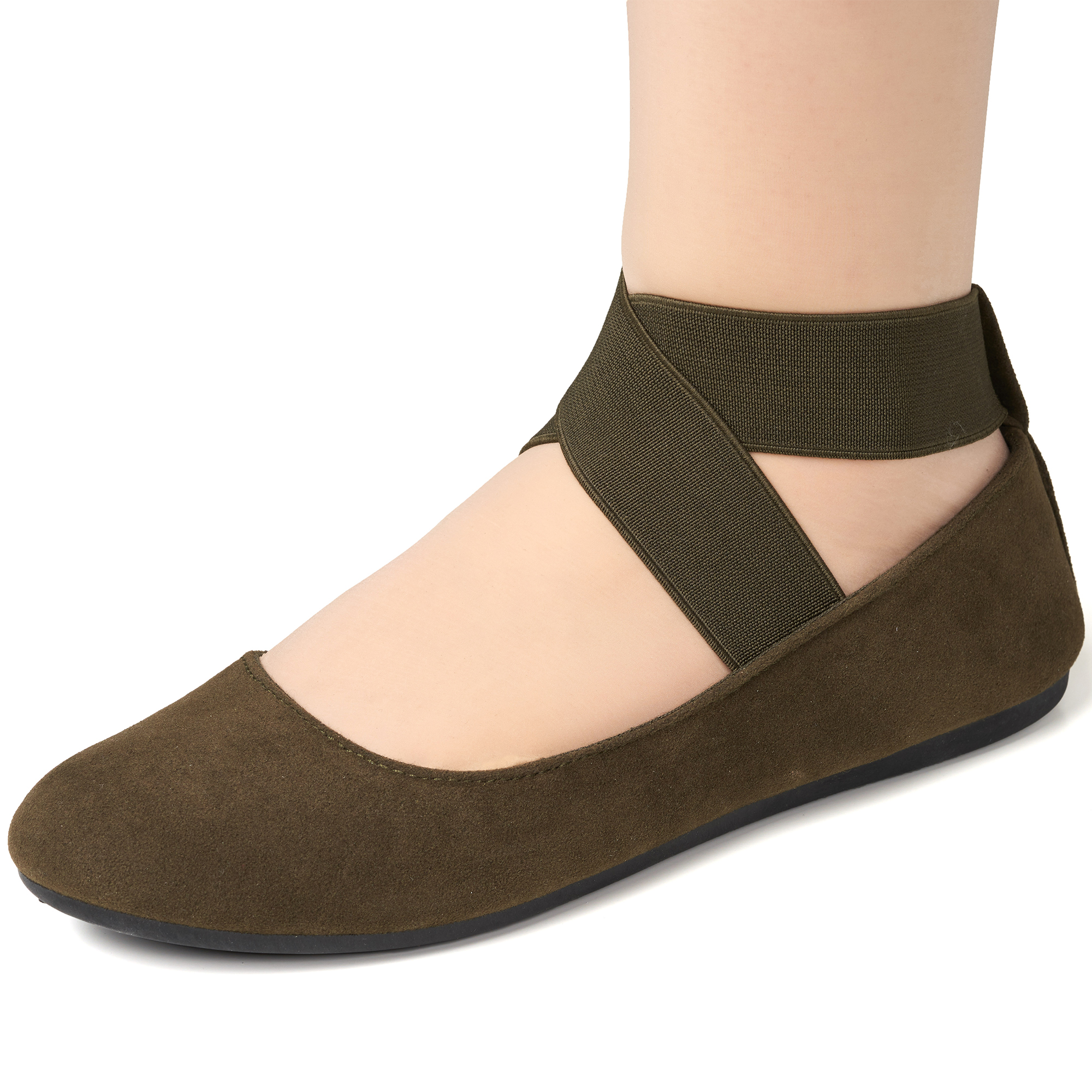 Alpine-Swiss-Peony-Womens-Ballet-Flats-Elastic-Ankle-Strap-Shoes-Slip-On-Loafers thumbnail 49