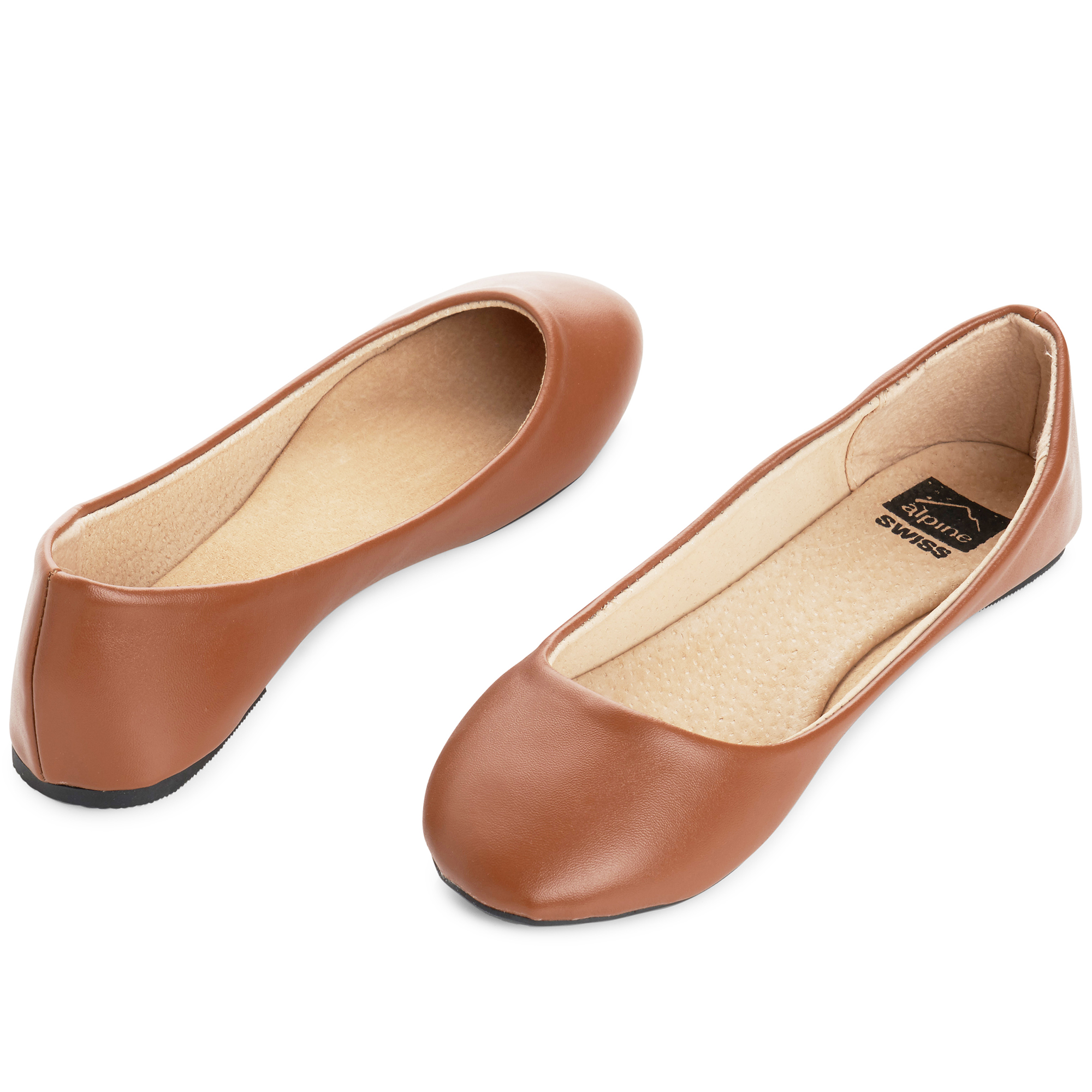 Alpine-Swiss-Pierina-Womens-Ballet-Flats-Leather-Lined-Classic-Slip-On-Shoes thumbnail 44