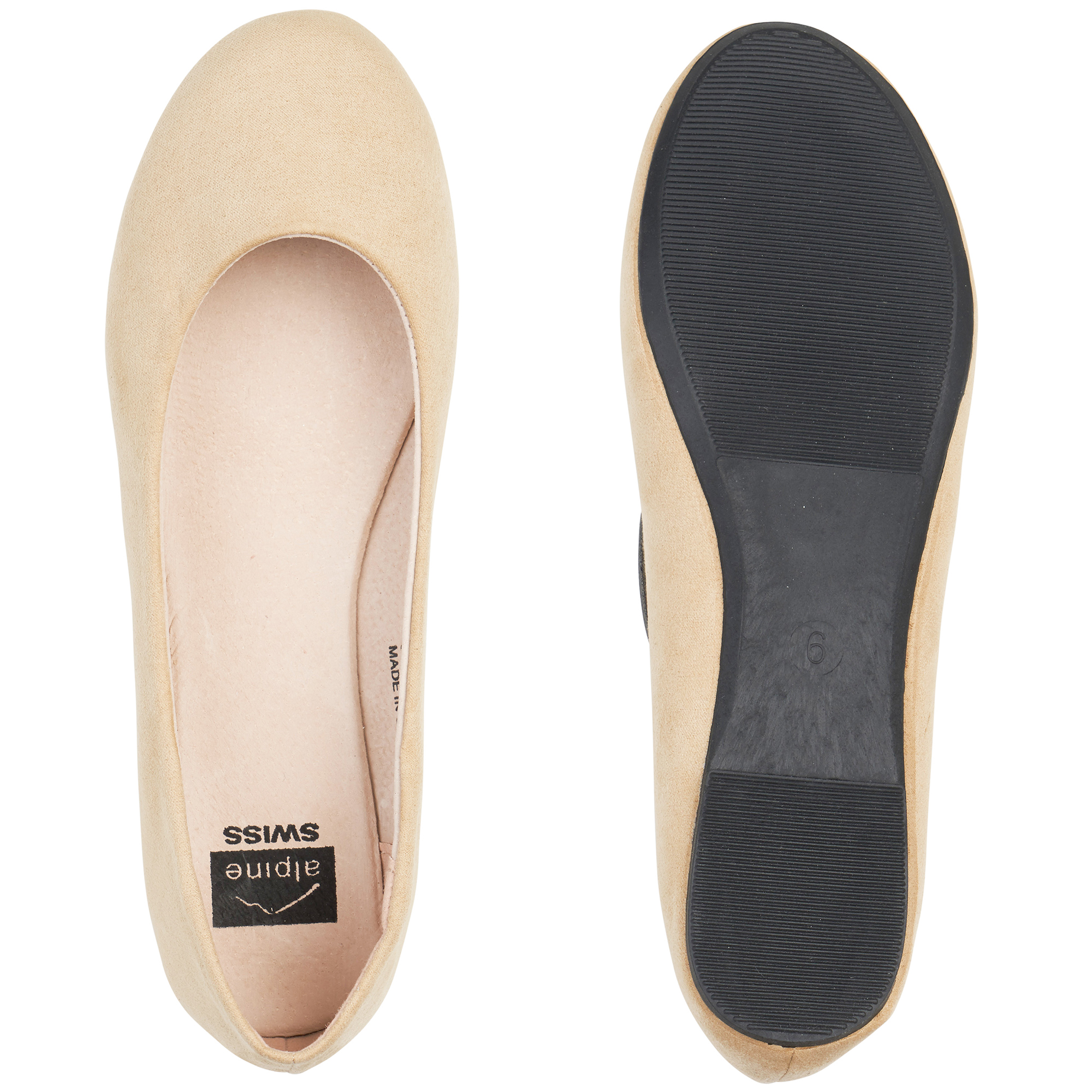 Alpine-Swiss-Pierina-Womens-Ballet-Flats-Leather-Lined-Classic-Slip-On-Shoes thumbnail 14