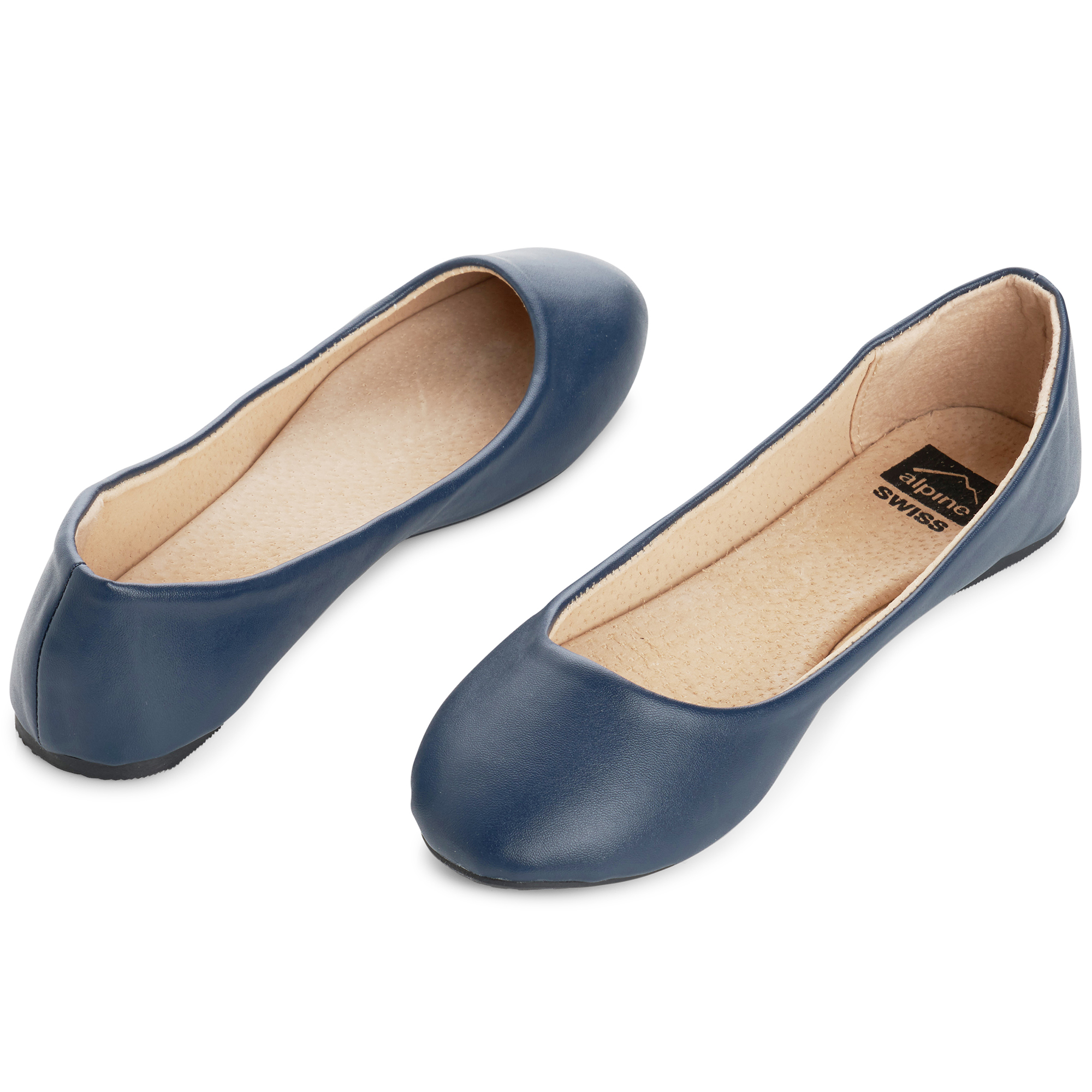 Alpine-Swiss-Pierina-Womens-Ballet-Flats-Leather-Lined-Classic-Slip-On-Shoes thumbnail 77