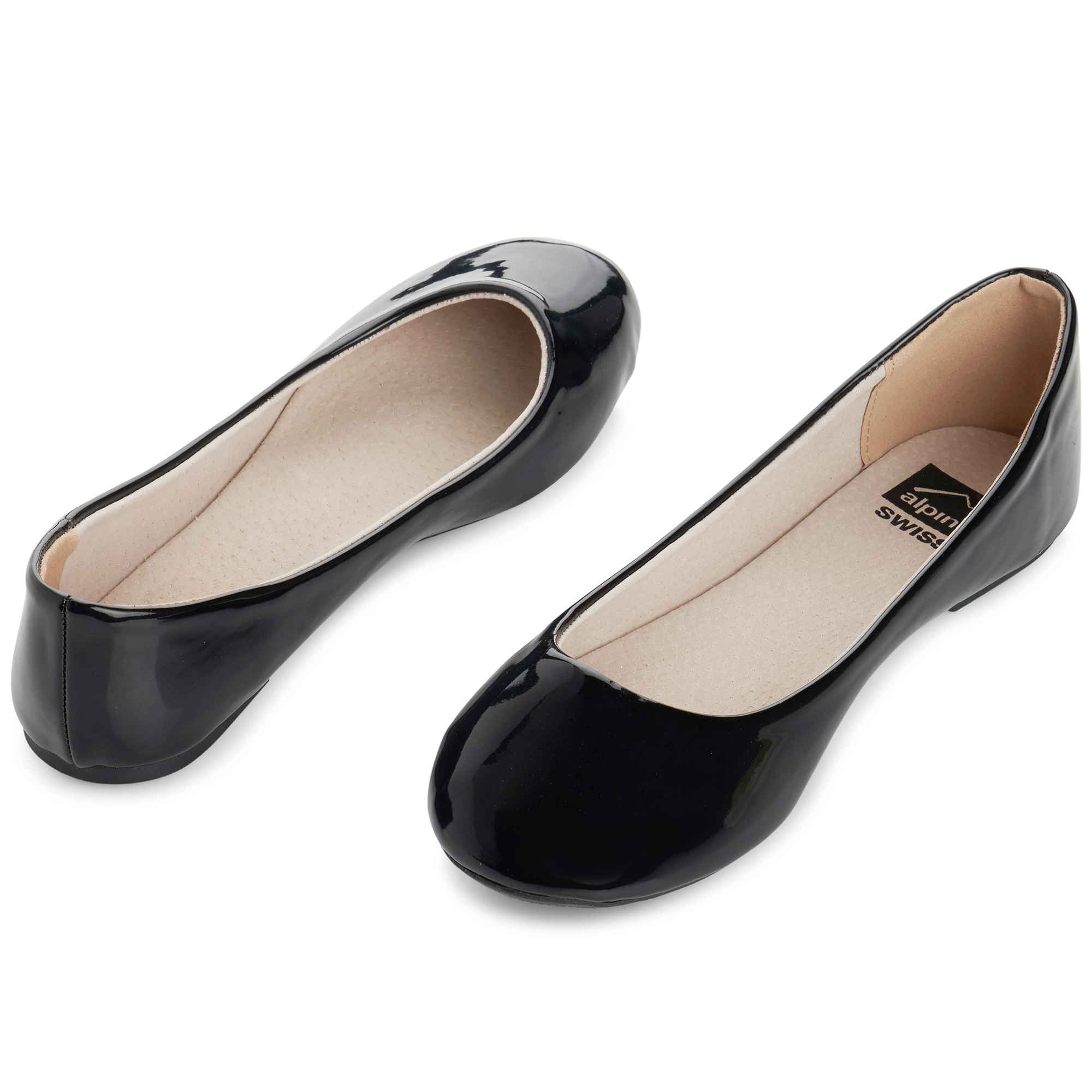 Alpine-Swiss-Pierina-Womens-Ballet-Flats-Leather-Lined-Classic-Slip-On-Shoes thumbnail 37