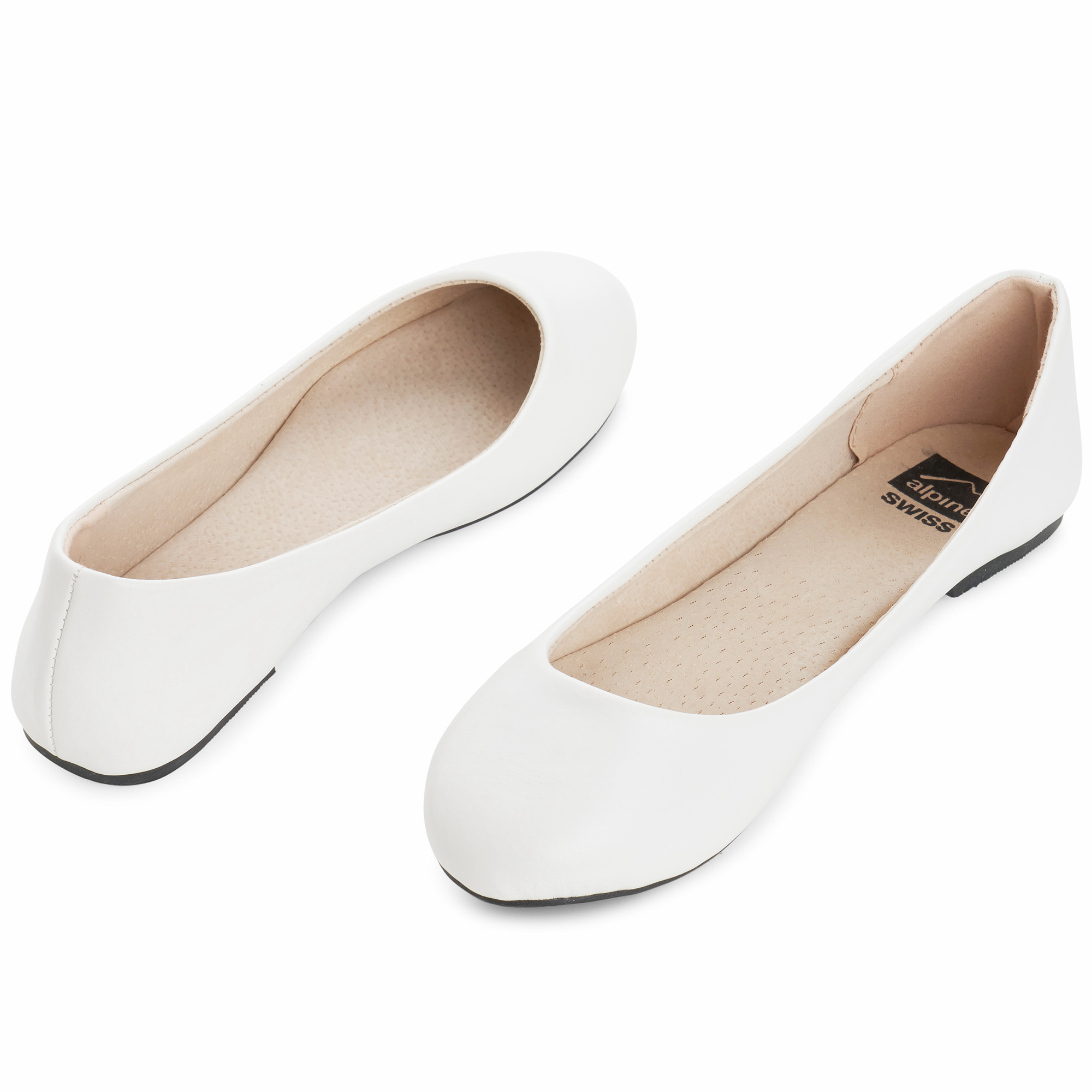 Alpine-Swiss-Pierina-Womens-Ballet-Flats-Leather-Lined-Classic-Slip-On-Shoes thumbnail 91