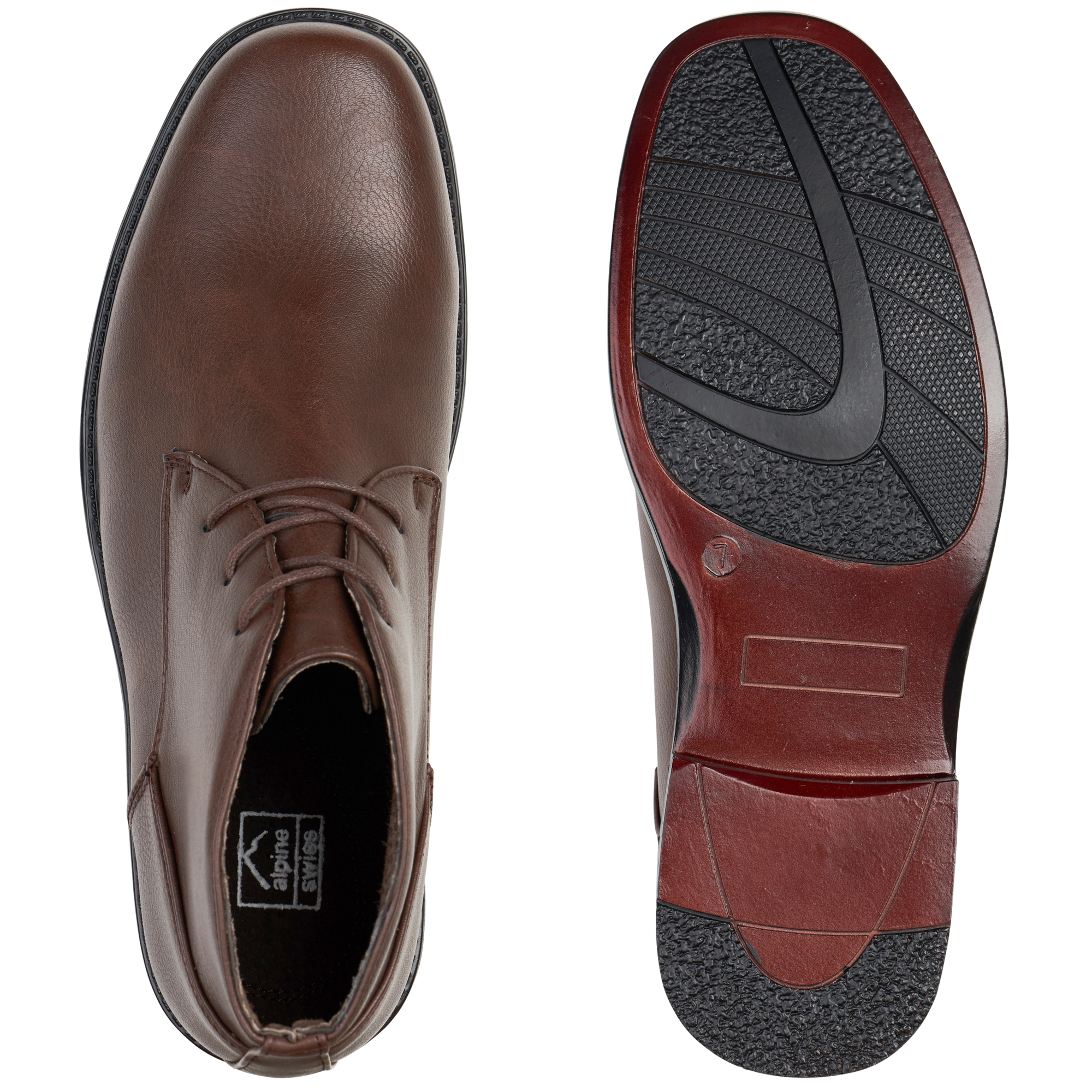 Alpine-Swiss-Mens-Ankle-Boots-Dressy-Casual-Leather-Lined-Dress-Shoes-Lace-up-NW miniature 21