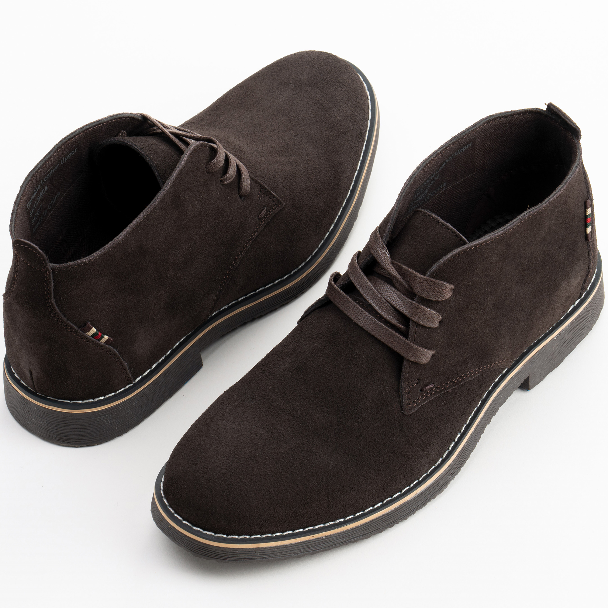 Alpine-Swiss-Beck-Mens-Suede-Chukka-Desert-Boots-Lace-Up-Shoes-Crepe-Sole-Oxford miniature 21