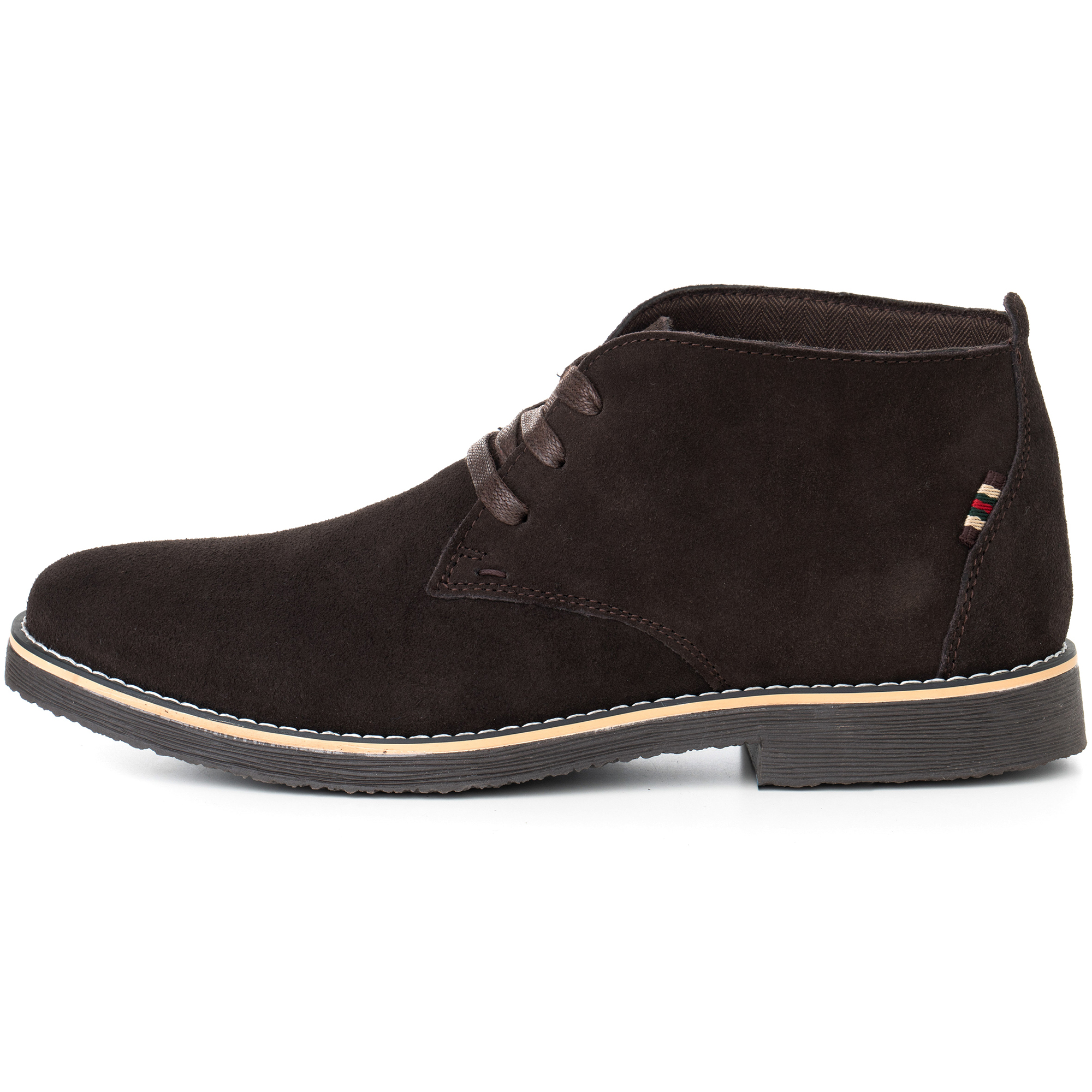 Alpine-Swiss-Beck-Mens-Suede-Chukka-Desert-Boots-Lace-Up-Shoes-Crepe-Sole-Oxford miniature 19