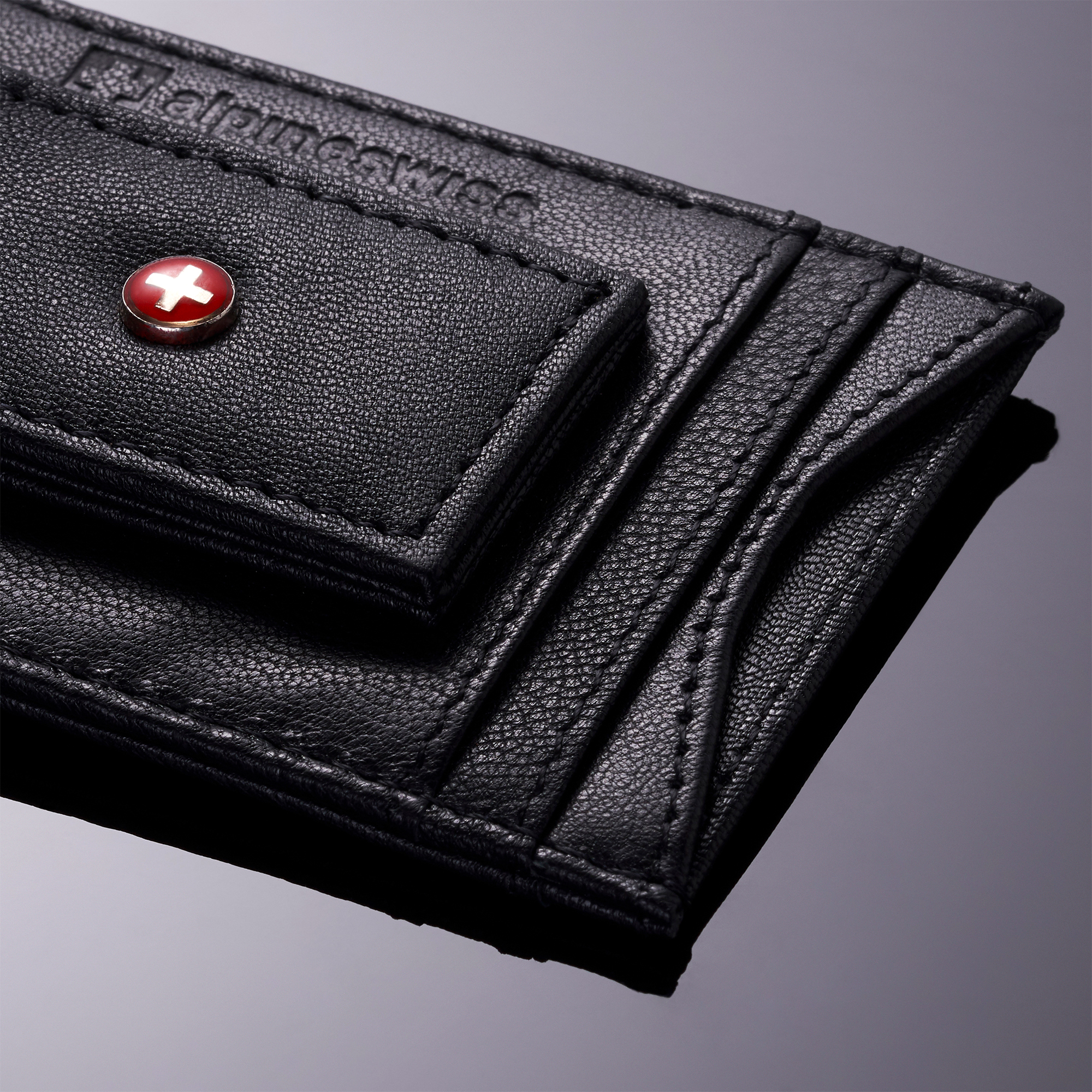 AlpineSwiss-Mens-Leather-Money-Clip-Magnet-Front-Pocket-Wallet-Slim-ID-Card-Case thumbnail 25