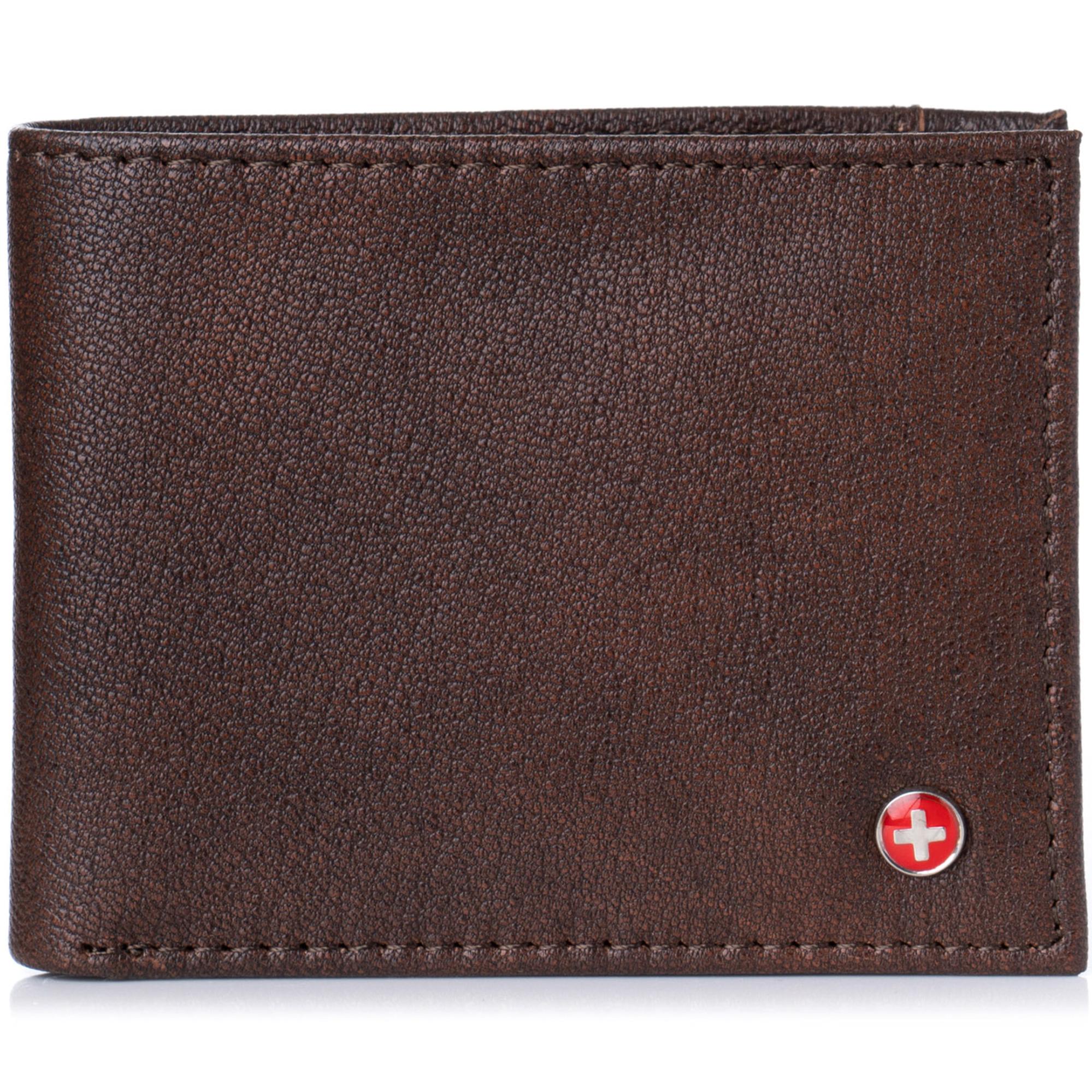 Alpine-Swiss-Mens-Thin-Bifold-Wallet-Top-Grain-Leather-EZ-Access-Outer-Card-Slot thumbnail 14