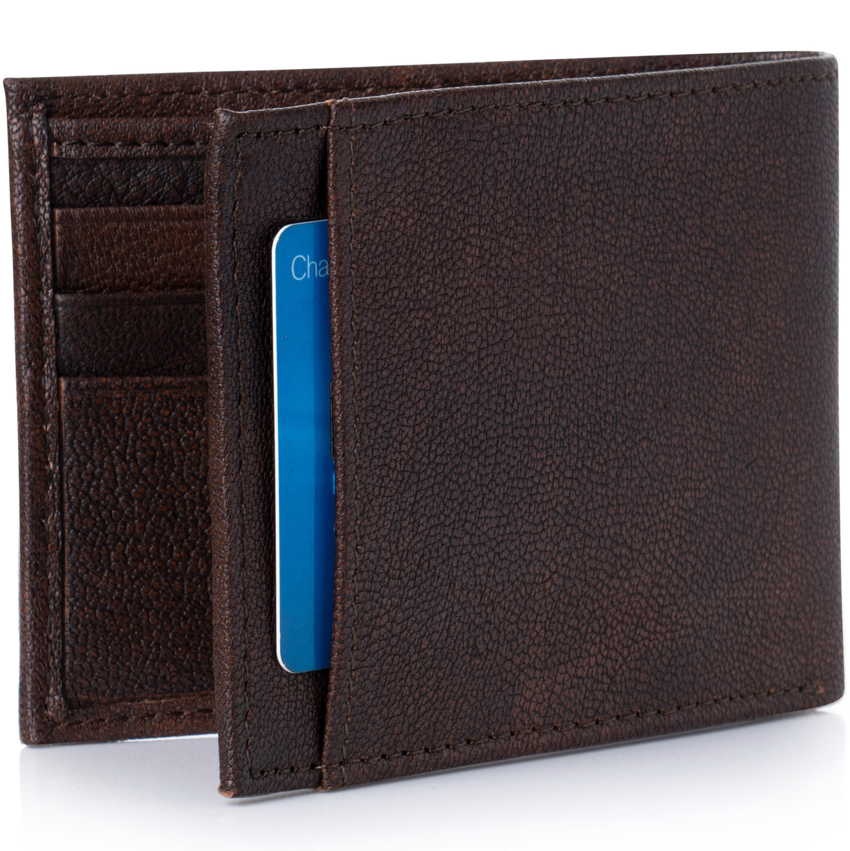 Alpine-Swiss-Mens-Thin-Bifold-Wallet-Top-Grain-Leather-EZ-Access-Outer-Card-Slot thumbnail 15