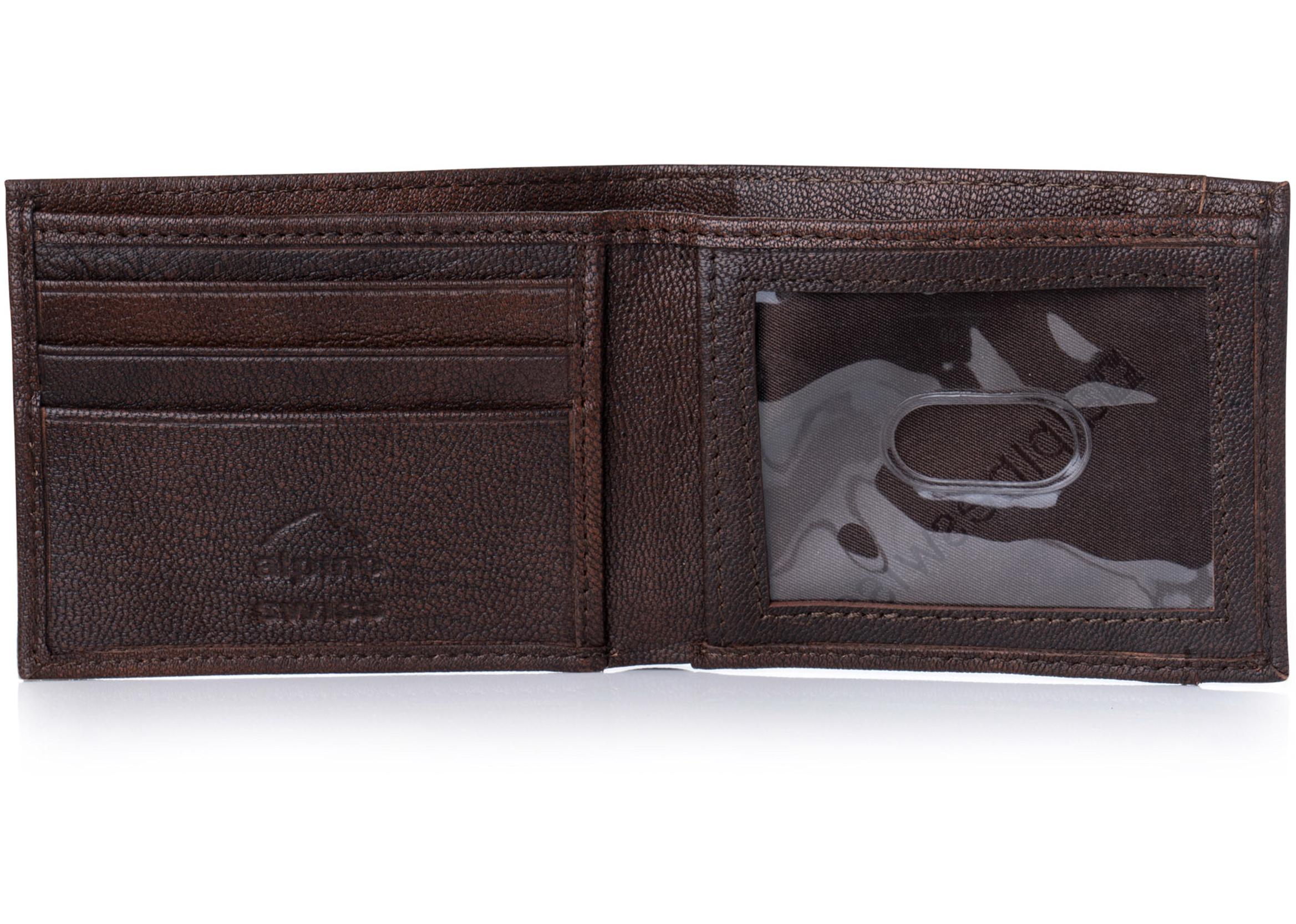 Alpine-Swiss-Mens-Thin-Bifold-Wallet-Top-Grain-Leather-EZ-Access-Outer-Card-Slot thumbnail 19