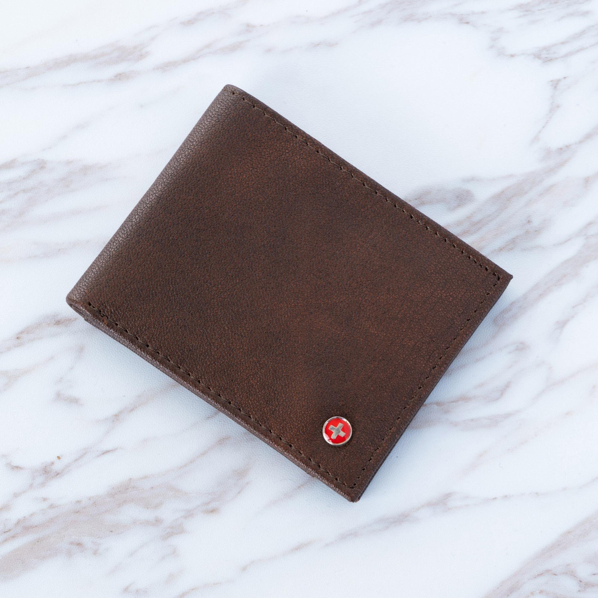 Alpine-Swiss-Mens-Thin-Bifold-Wallet-Top-Grain-Leather-EZ-Access-Outer-Card-Slot thumbnail 21