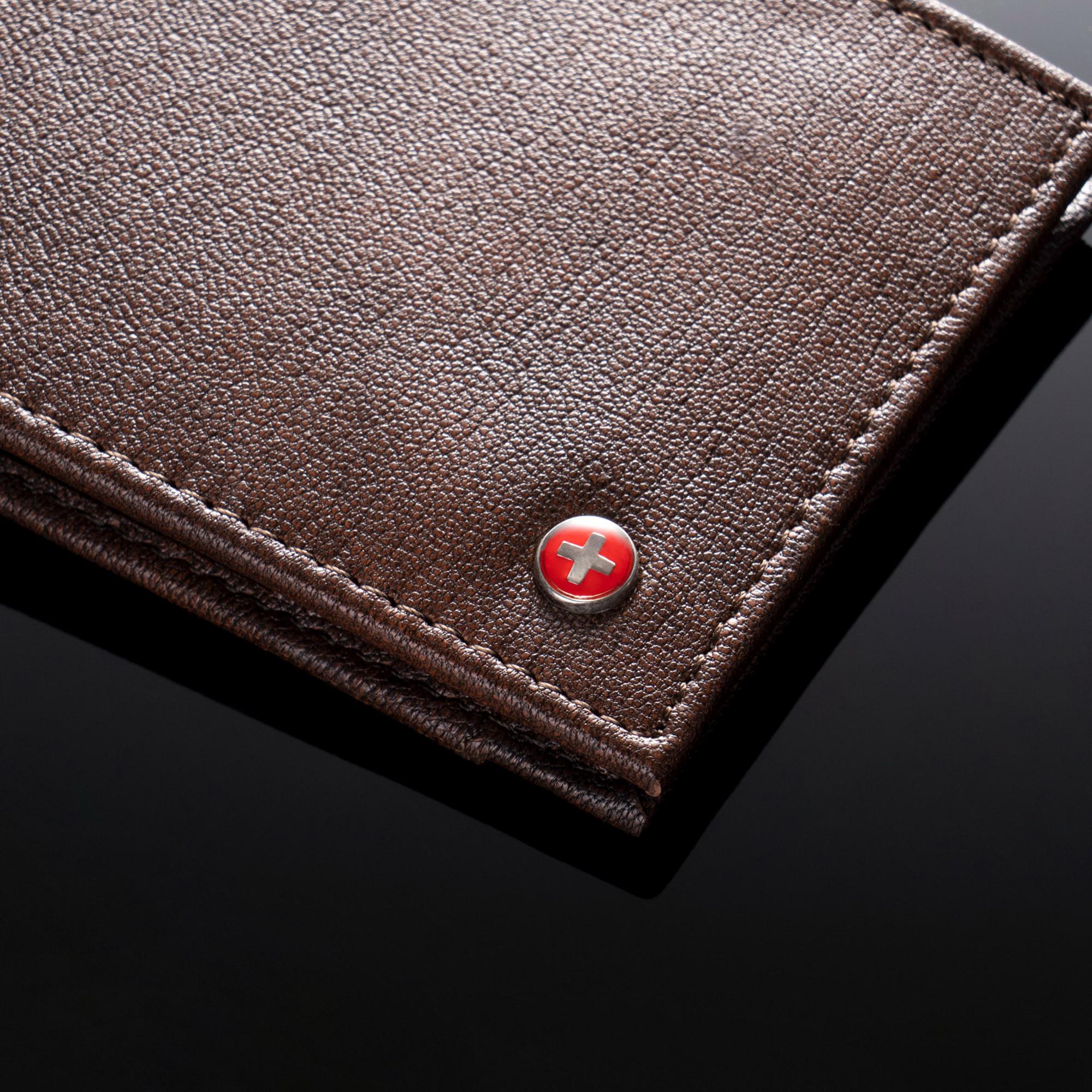 Alpine-Swiss-Mens-Thin-Bifold-Wallet-Top-Grain-Leather-EZ-Access-Outer-Card-Slot thumbnail 17