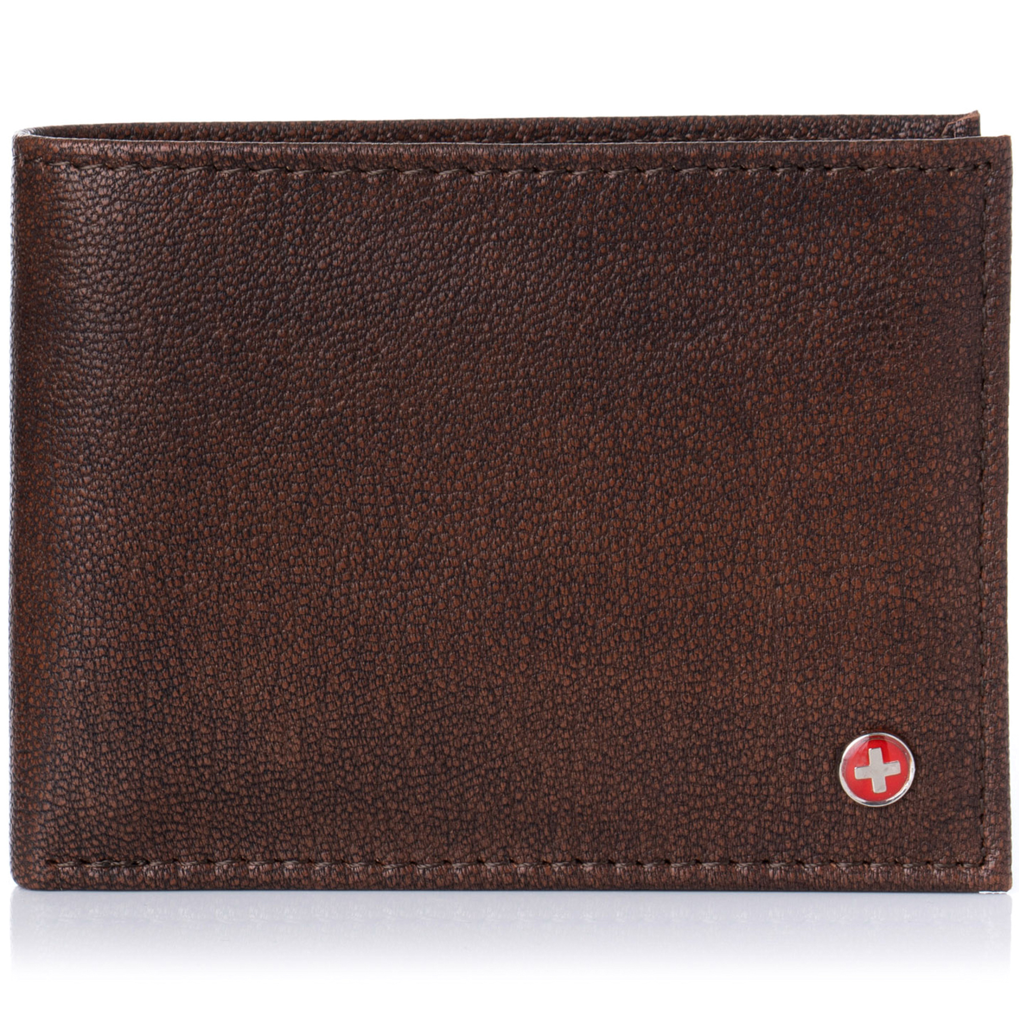 Alpine-Swiss-Mens-Wallet-Genuine-Leather-Removable-ID-Card-Case-Bifold-Passcase thumbnail 16