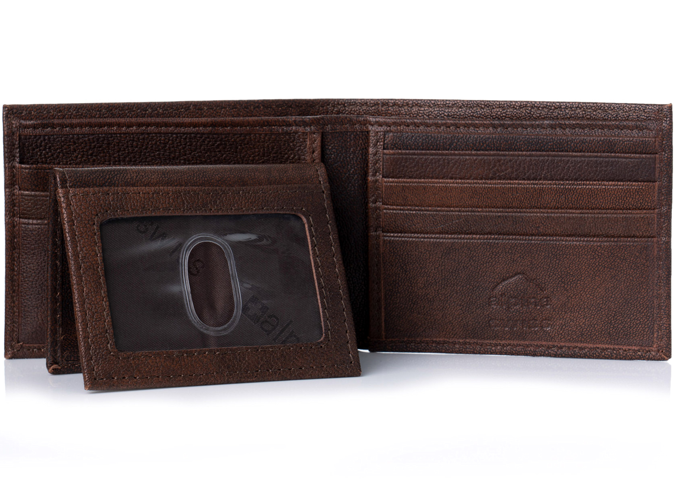 Alpine-Swiss-Mens-Wallet-Genuine-Leather-Removable-ID-Card-Case-Bifold-Passcase thumbnail 15