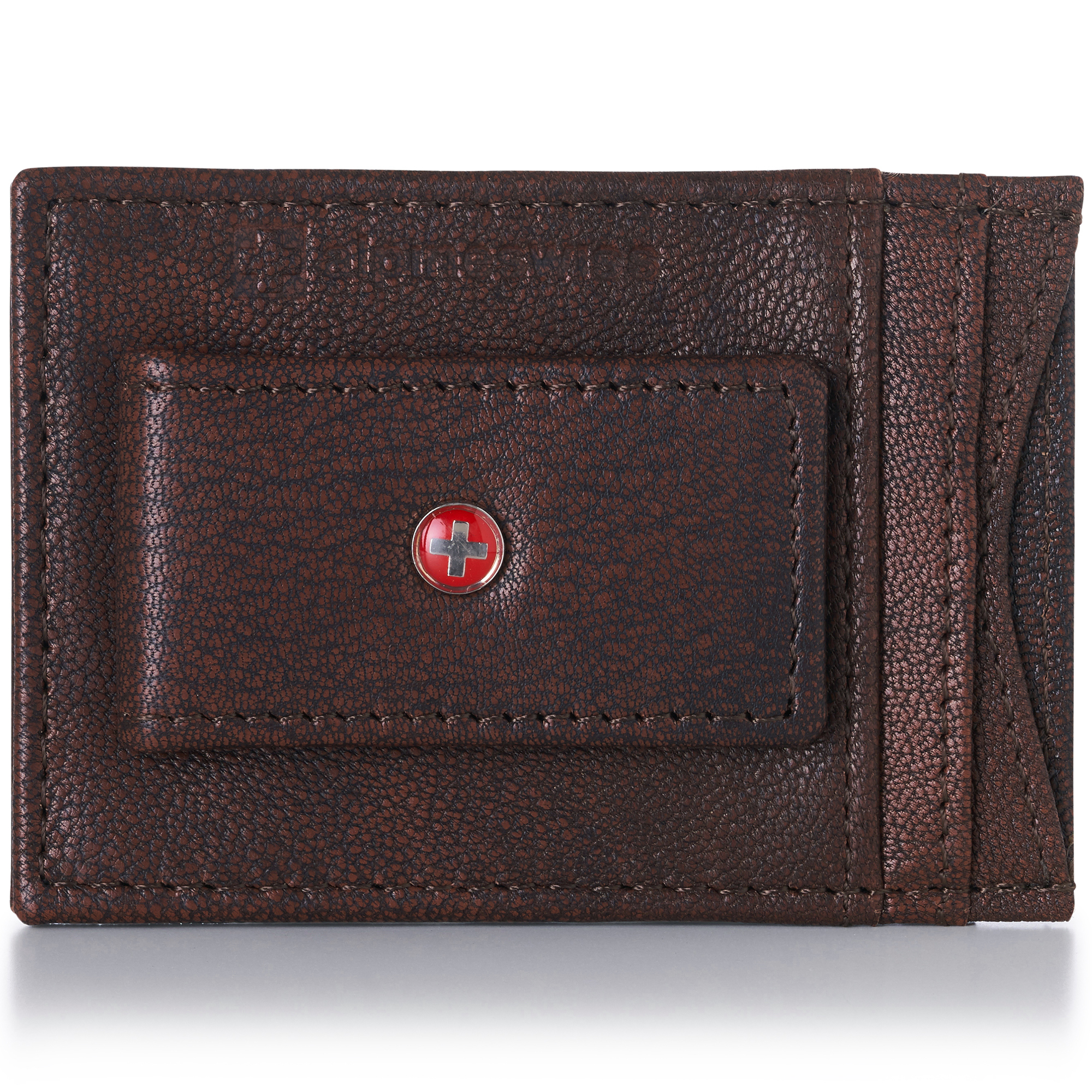 AlpineSwiss-Mens-Leather-Money-Clip-Magnet-Front-Pocket-Wallet-Slim-ID-Card-Case thumbnail 19