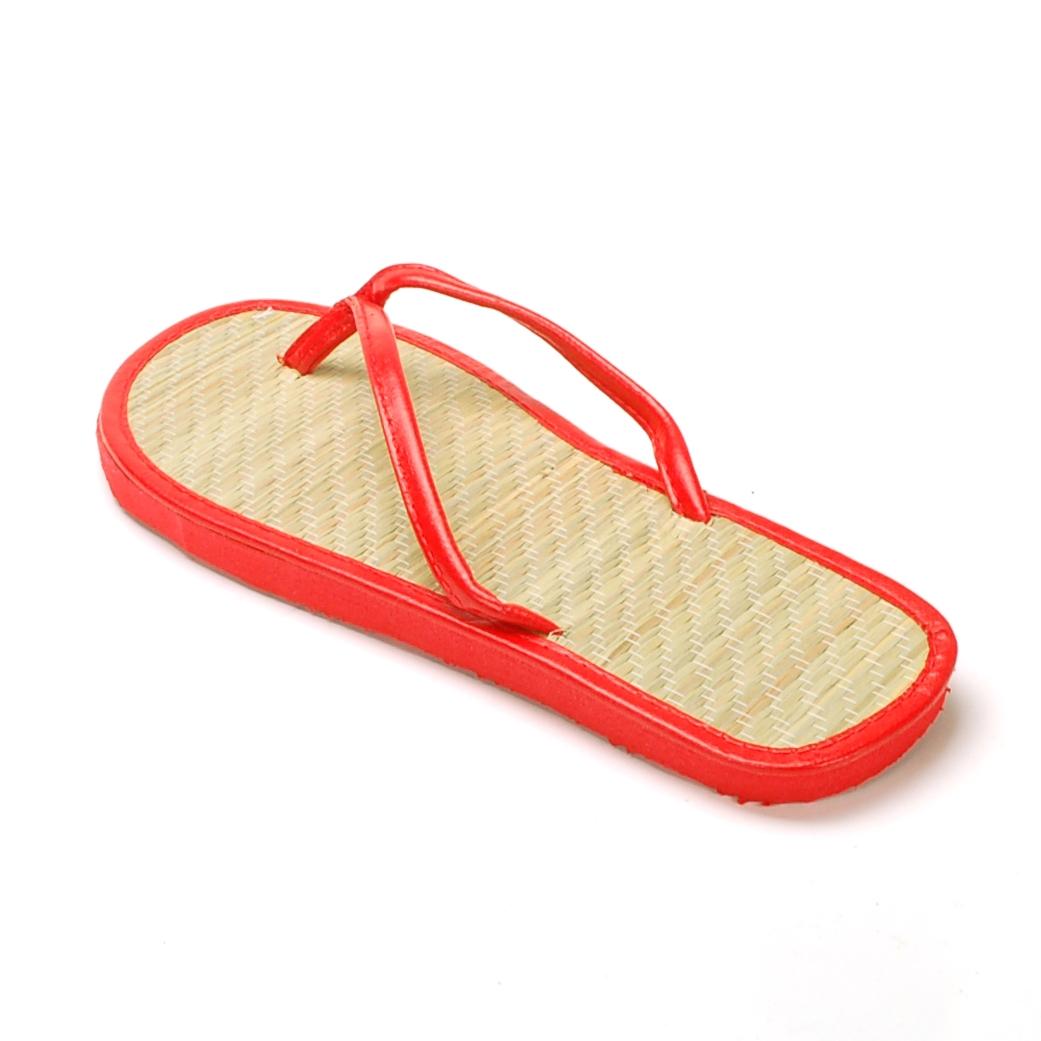Womens Bamboo Sandal Flip Flops Light Flats Beach Summer