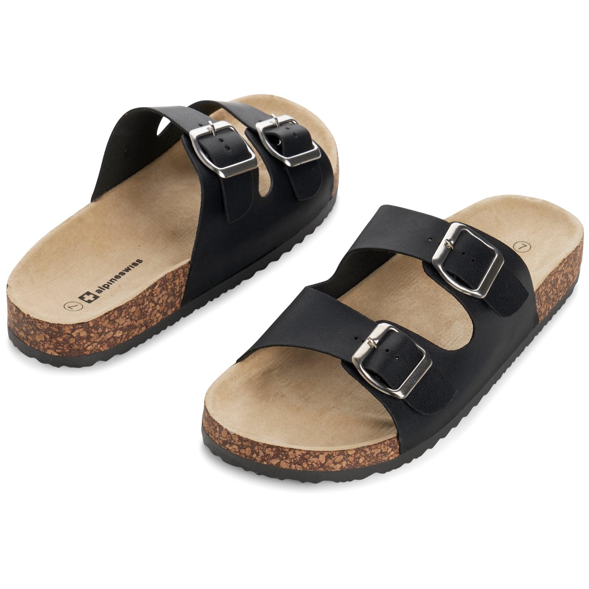 Alpine-Swiss-Womens-Double-Strap-Slide-Sandals-EVA-Sole-Flat-Comfort-Shoes thumbnail 15
