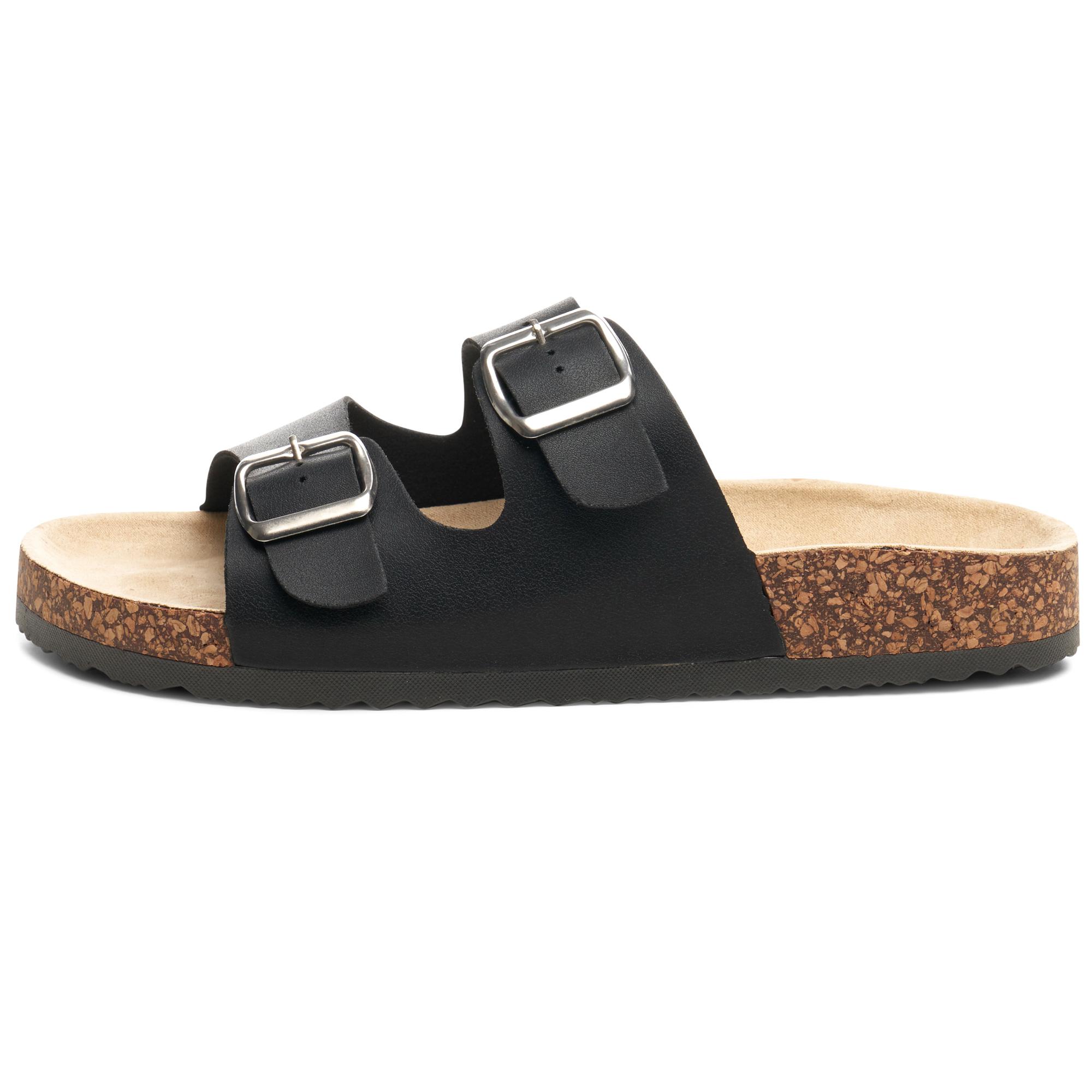 Alpine-Swiss-Womens-Double-Strap-Slide-Sandals-EVA-Sole-Flat-Comfort-Shoes thumbnail 13