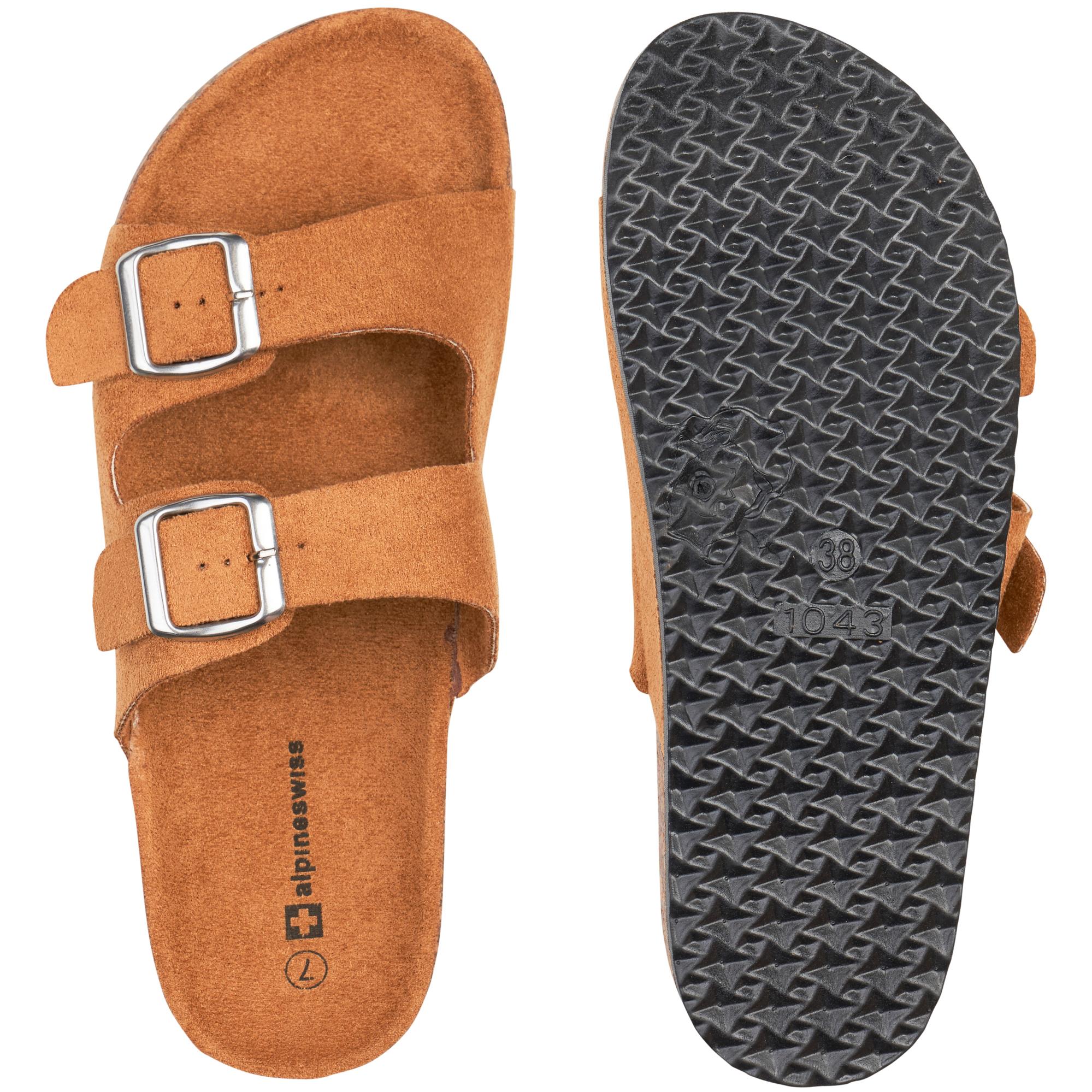 Alpine-Swiss-Womens-Double-Strap-Slide-Sandals-EVA-Sole-Flat-Comfort-Shoes thumbnail 20