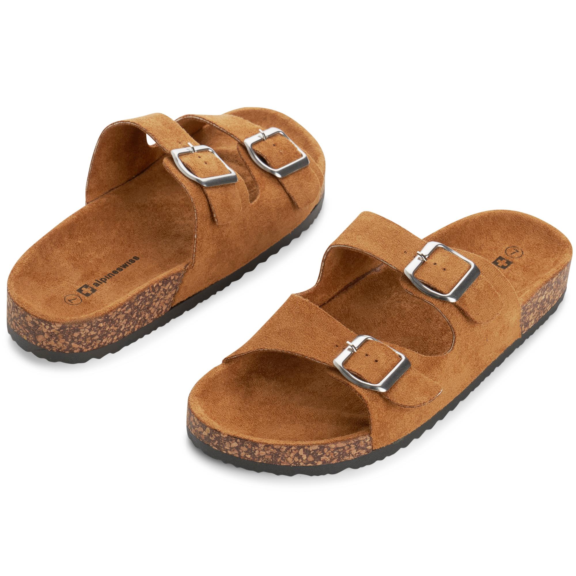 Alpine-Swiss-Womens-Double-Strap-Slide-Sandals-EVA-Sole-Flat-Comfort-Shoes thumbnail 21