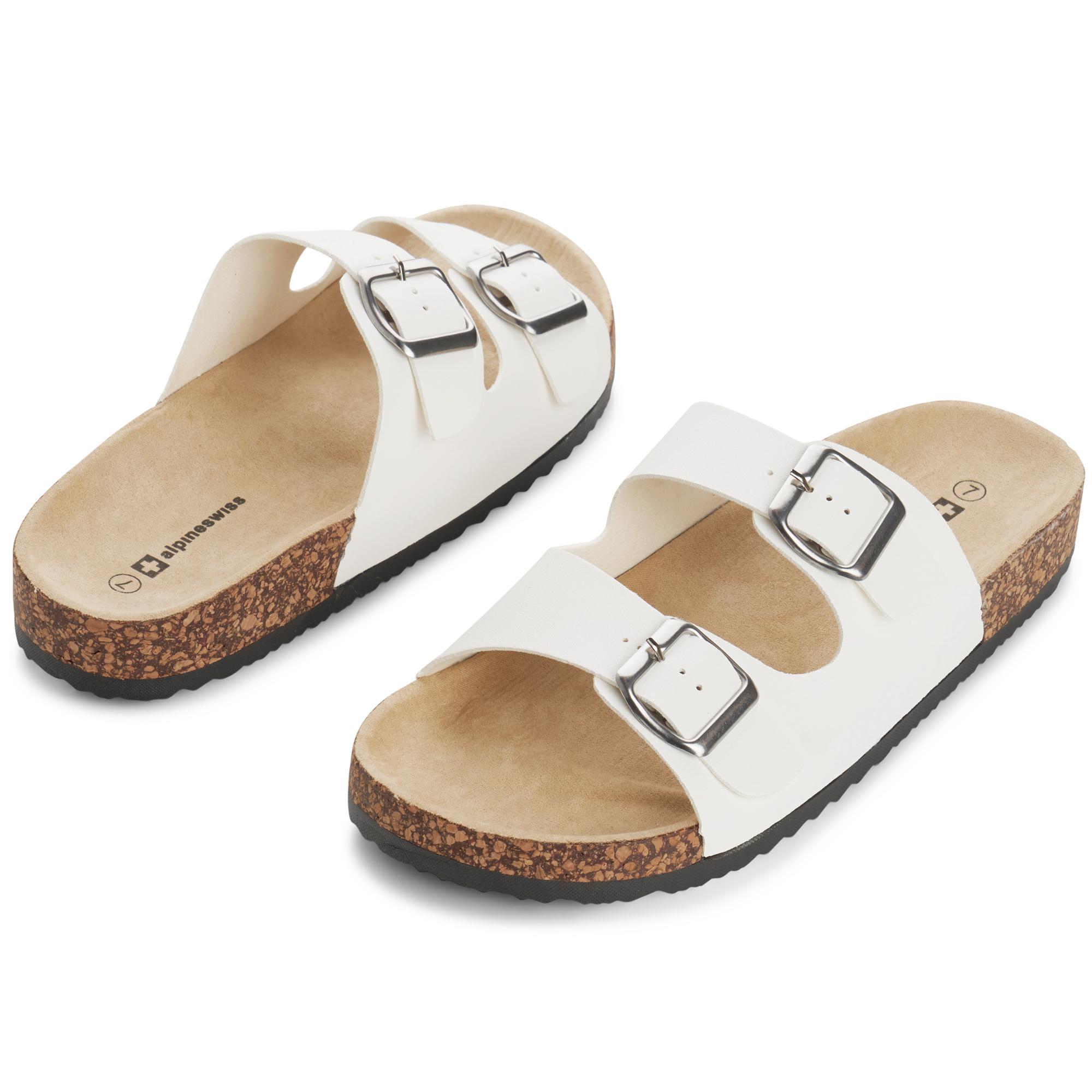 Alpine-Swiss-Womens-Double-Strap-Slide-Sandals-EVA-Sole-Flat-Comfort-Shoes thumbnail 27